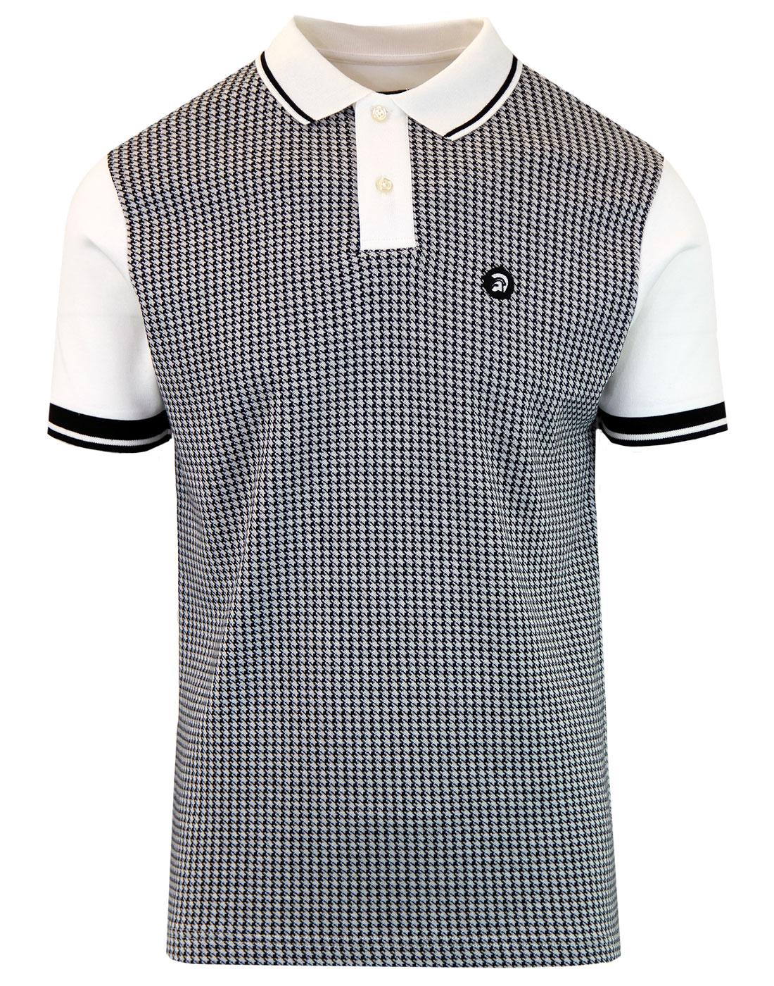 TROJAN RECORDS Mod Ska Dogtooth Tipped Polo Top E