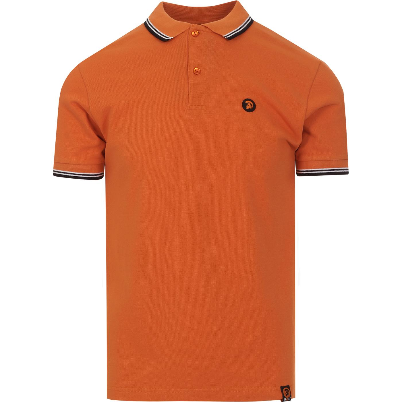 TROJAN RECORDS Classic Mod Tipped Polo (Orange)