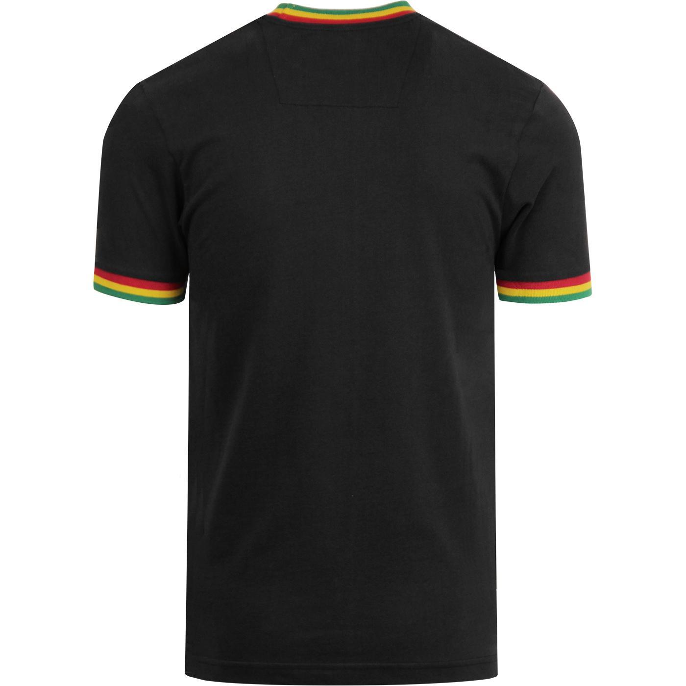 Trojan Records Rasta Striped Logo 100/% Cotton Peach T-Shirt