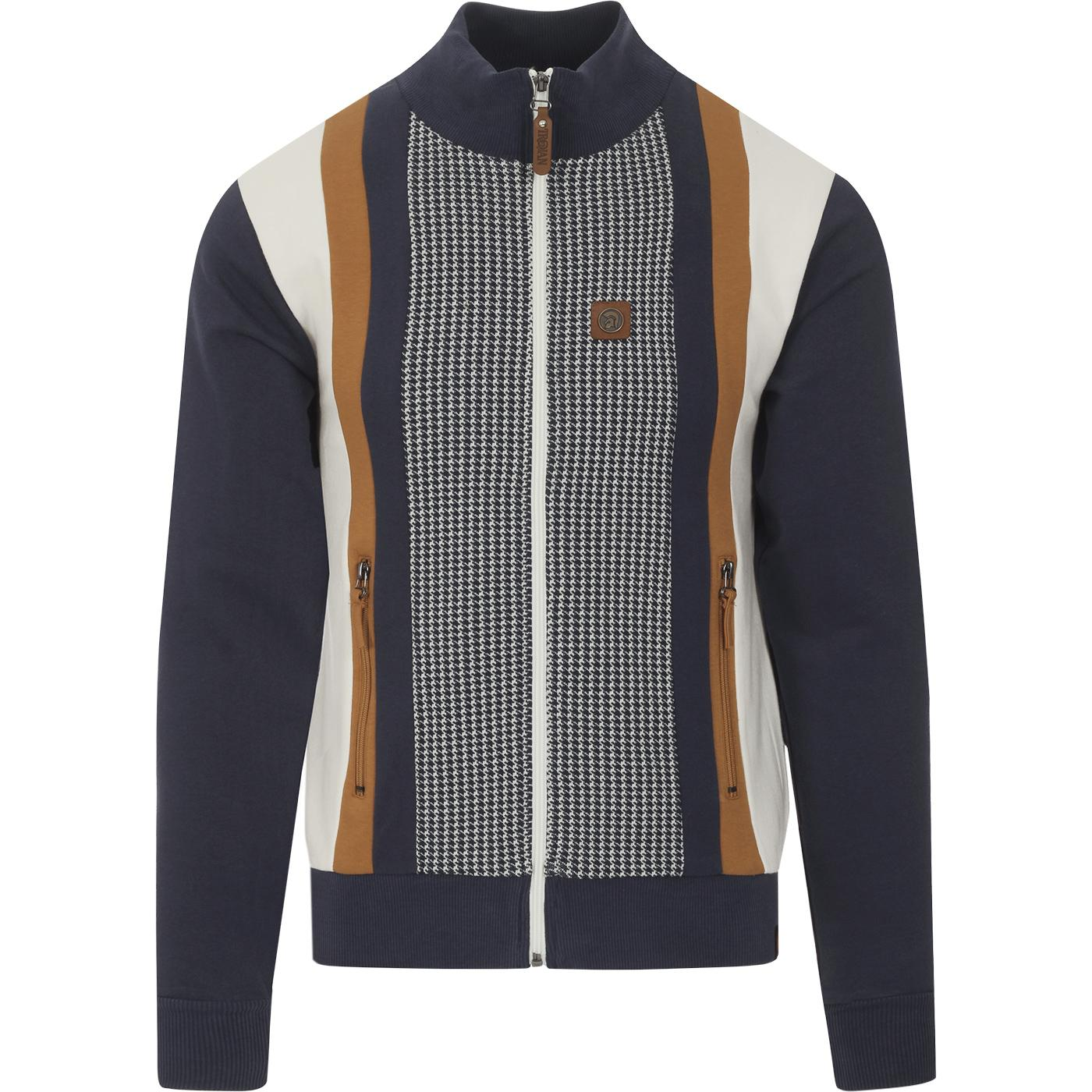 TROJAN RECORDS Mod Dogtooth Stripe Panel Track Top