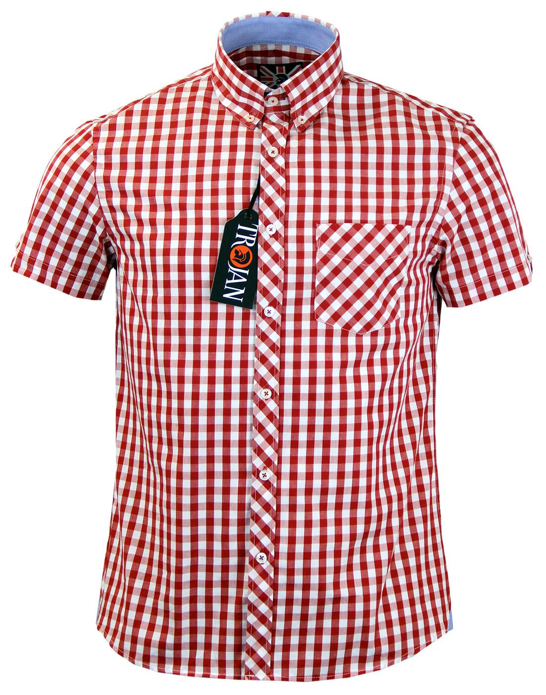 TROJAN RECORDS Retro Mod Gingham Check S/S Shirt