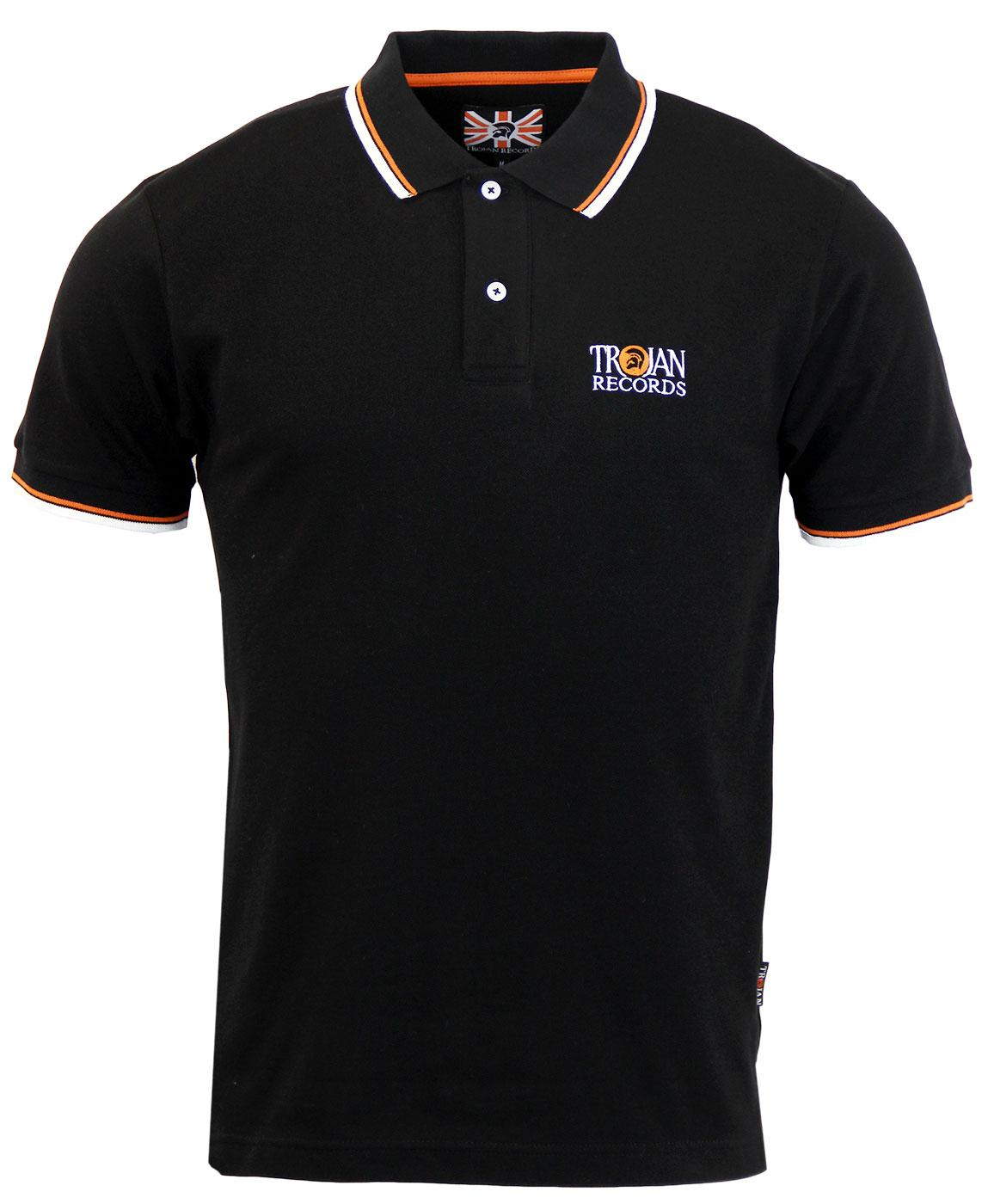 TROJAN RECORDS Mod Ska Signature Tipped Polo Top