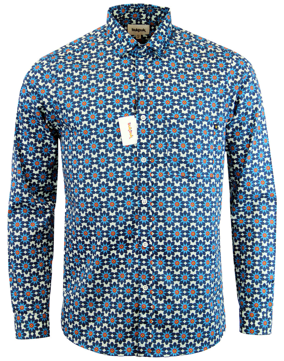 Cognito TUKTUK Retro 60s Psychedelic Floral Shirt