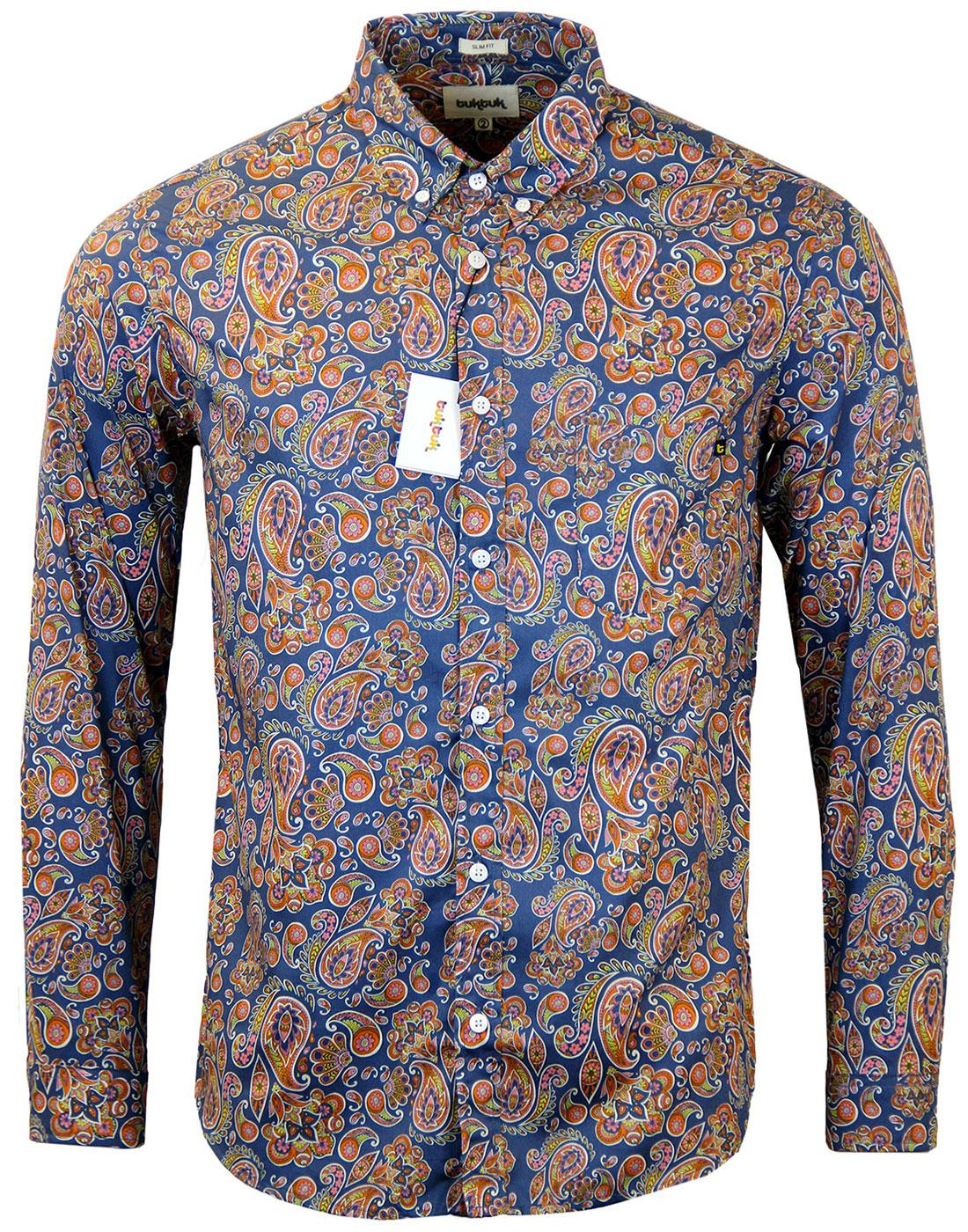 TUKTUK Retro Mod Floral Psychedelic Paisley Shirt