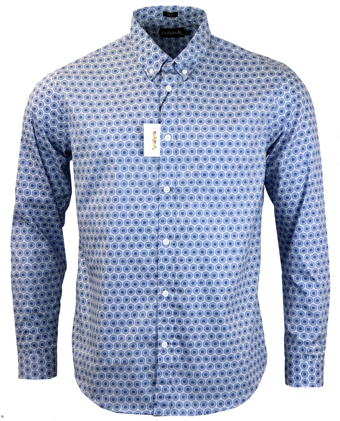 TUKTUK Big Wheel 60s Mod Op Art Button Down Shirt