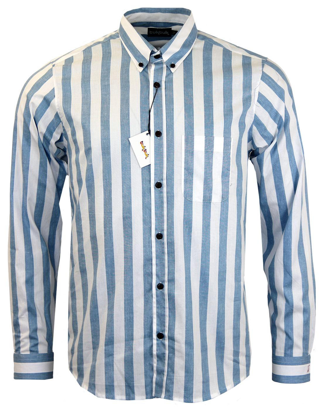 TUKTUK Retro Mod Deck Stripe Button Down Shirt
