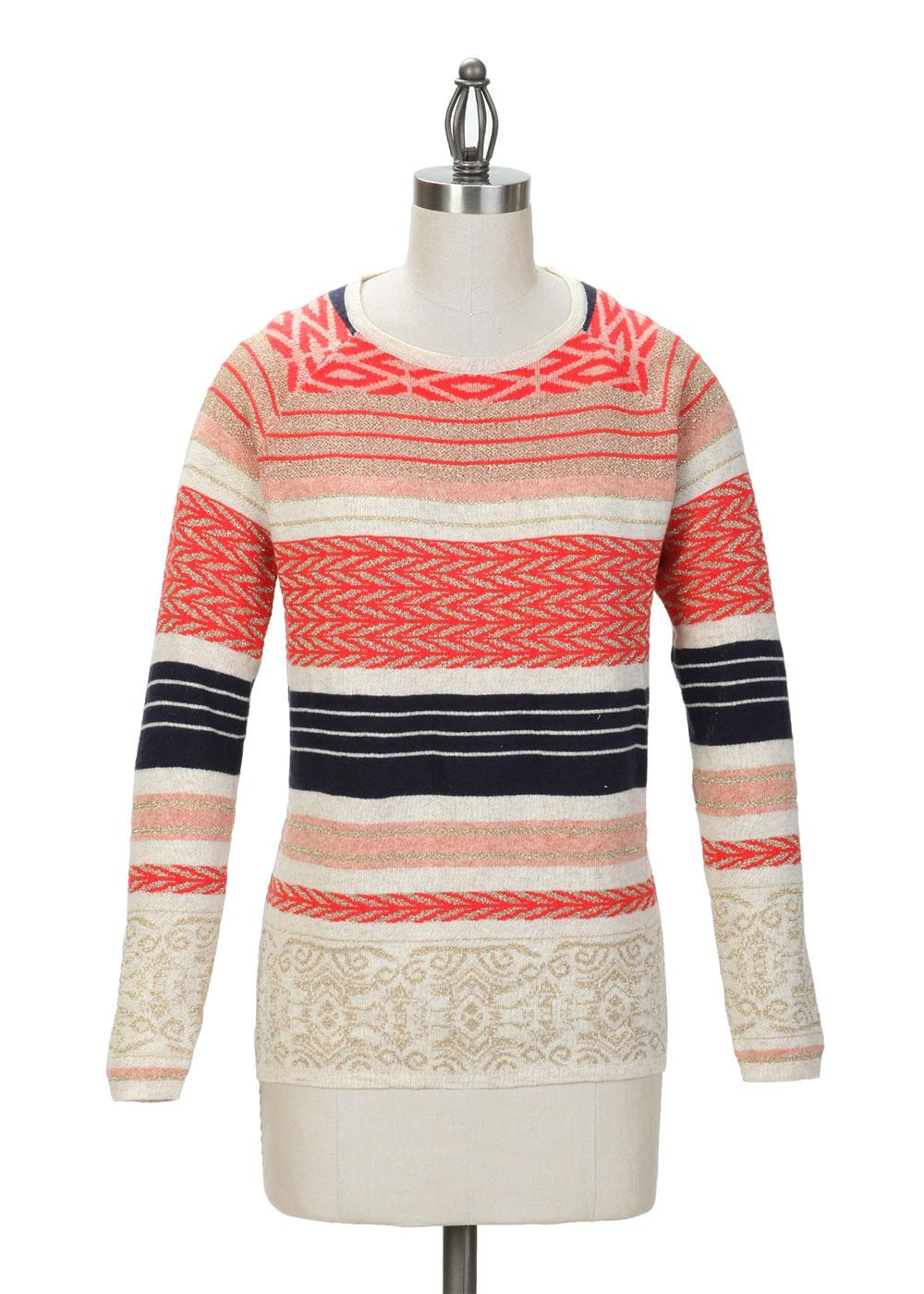 TULLE Retro 1980s Ornamental Fair Isle Jumper