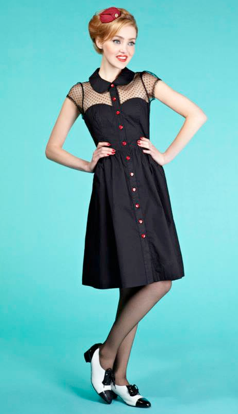 friday on my mind valentine retro vintage style party dress