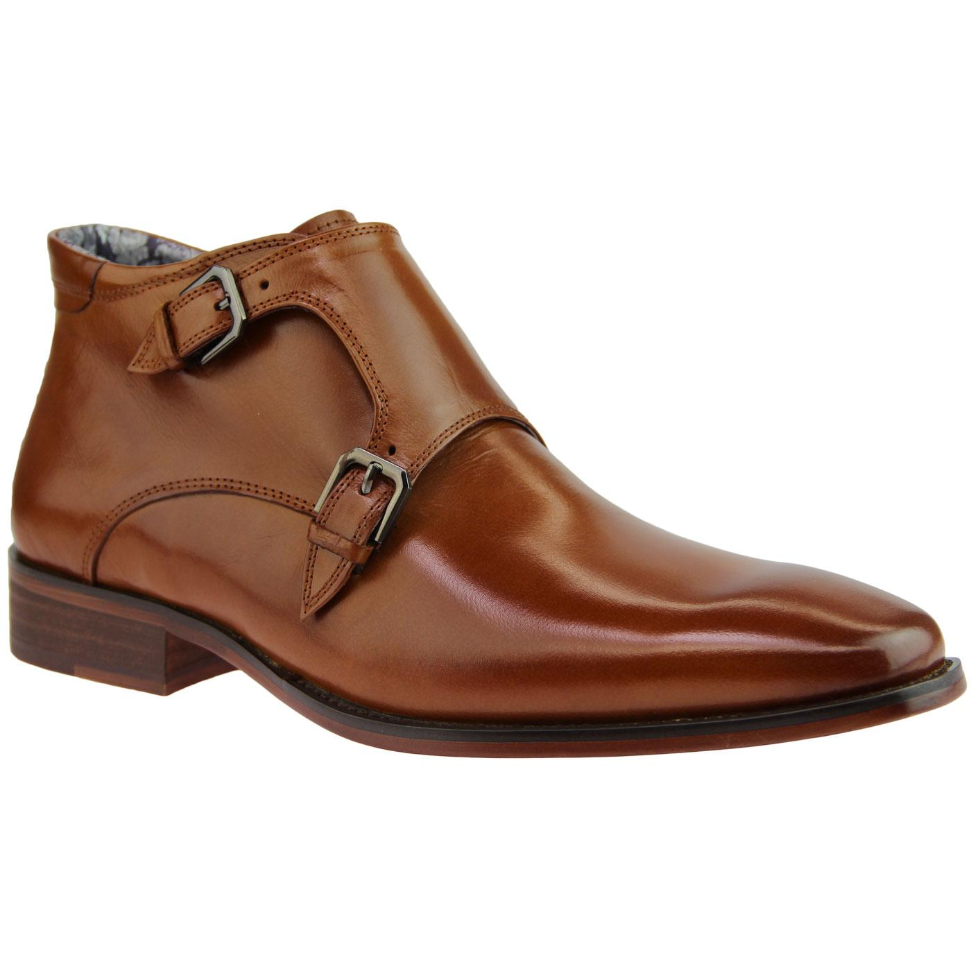 Swinford PAOLO VANDINI Monk Strap Ankle Boots TAN