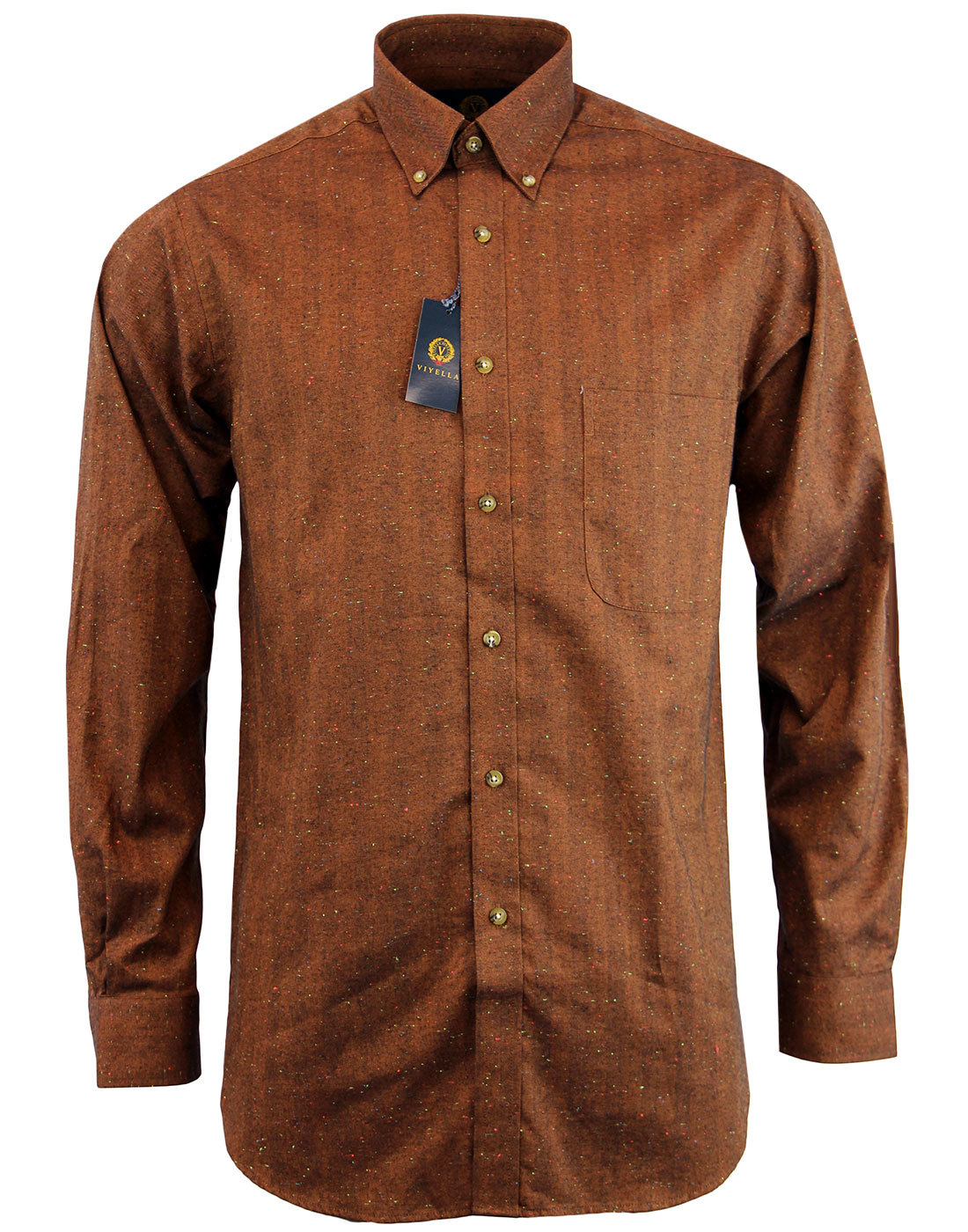 VIYELLA Retro Herringbone Donegal Nep Shirt (B)