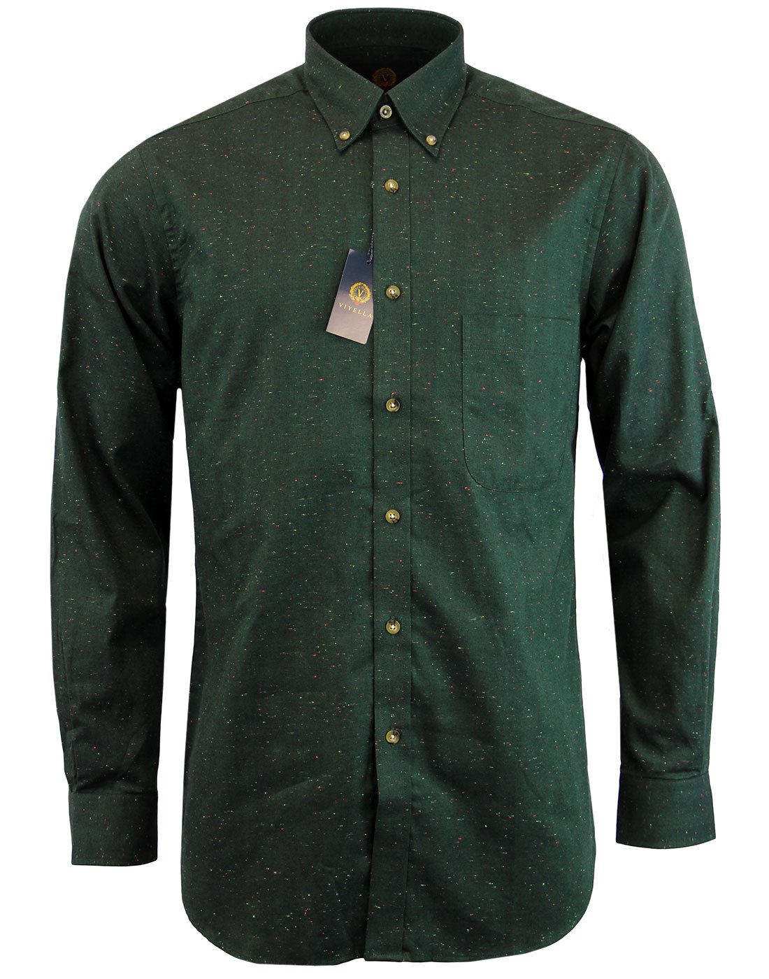 VIYELLA Retro Herringbone Donegal Nep Shirt (G)