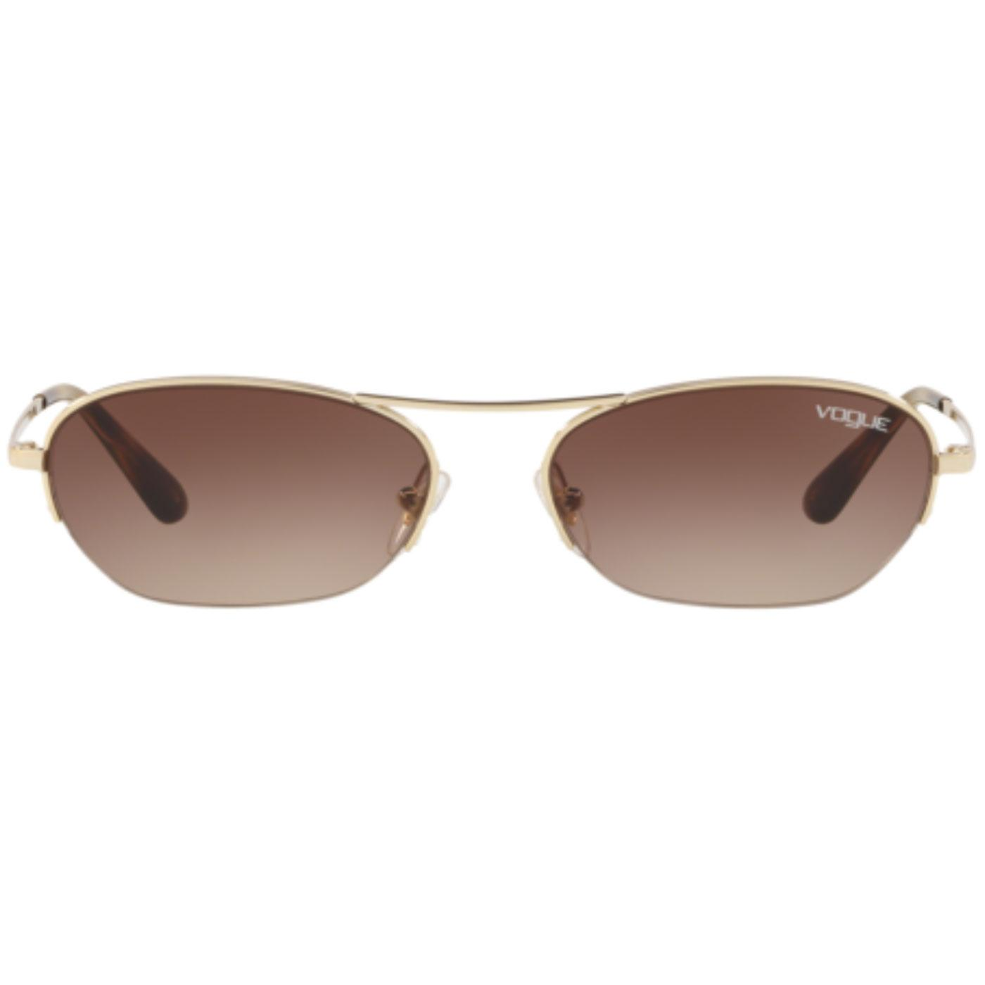 VOGUE x GIGI HADID Retro Oval Pale Gold Sunglasses