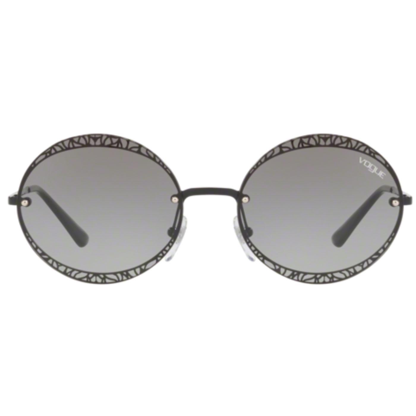 VOGUE Metallic Lace Retro Round Frame Sunglasses