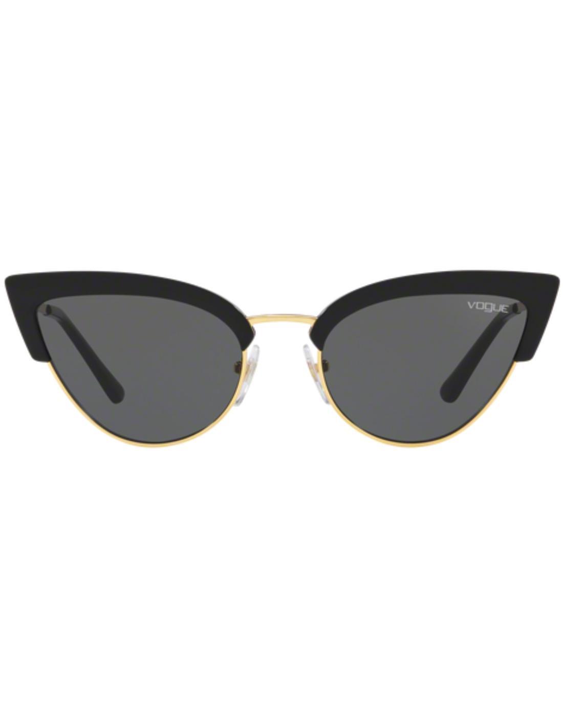 VOGUE Retro 50s Vintage Cats-Eye Sunglasses Black