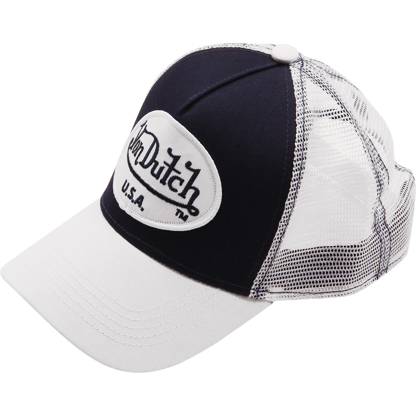 VON DUTCH USA Patch Retro Trucker Cap NAVY/WHITE