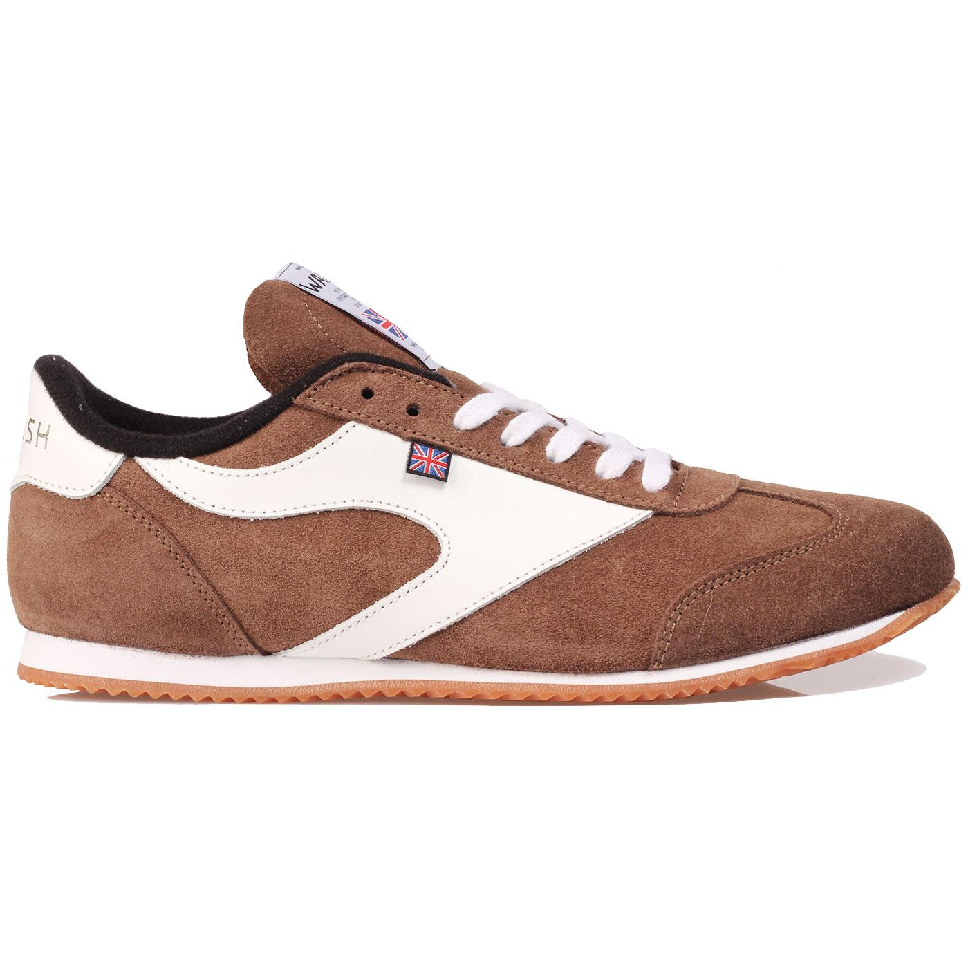 Attack WALSH Made In England Suede Trainers Br