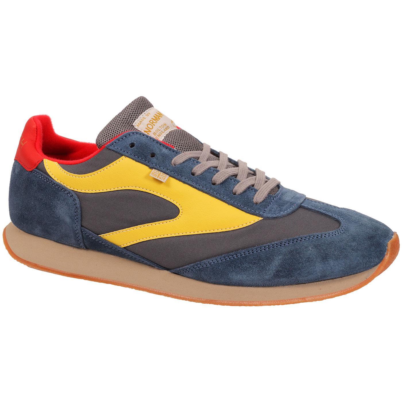 Fierce + WALSH Made in England Retro Trainers B/Y