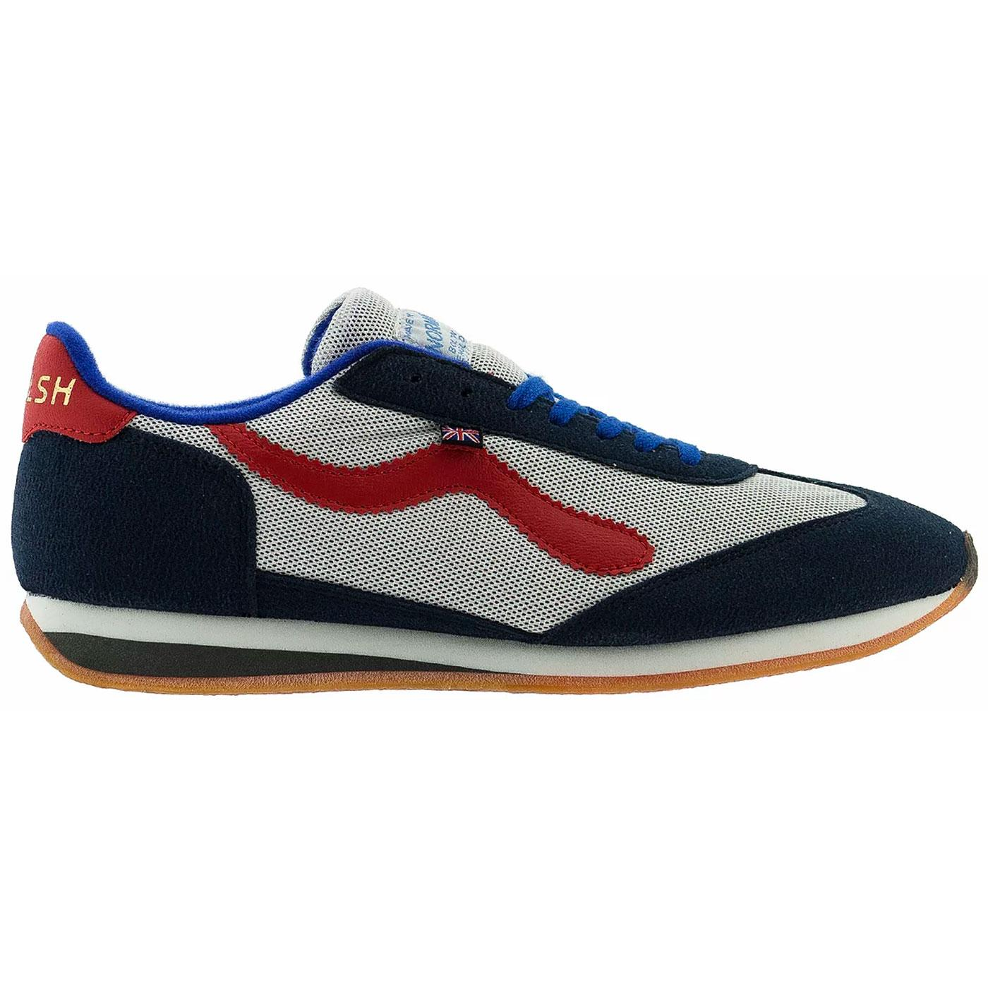Fierce WALSH Made in England 70s Trainers (R/W/B)