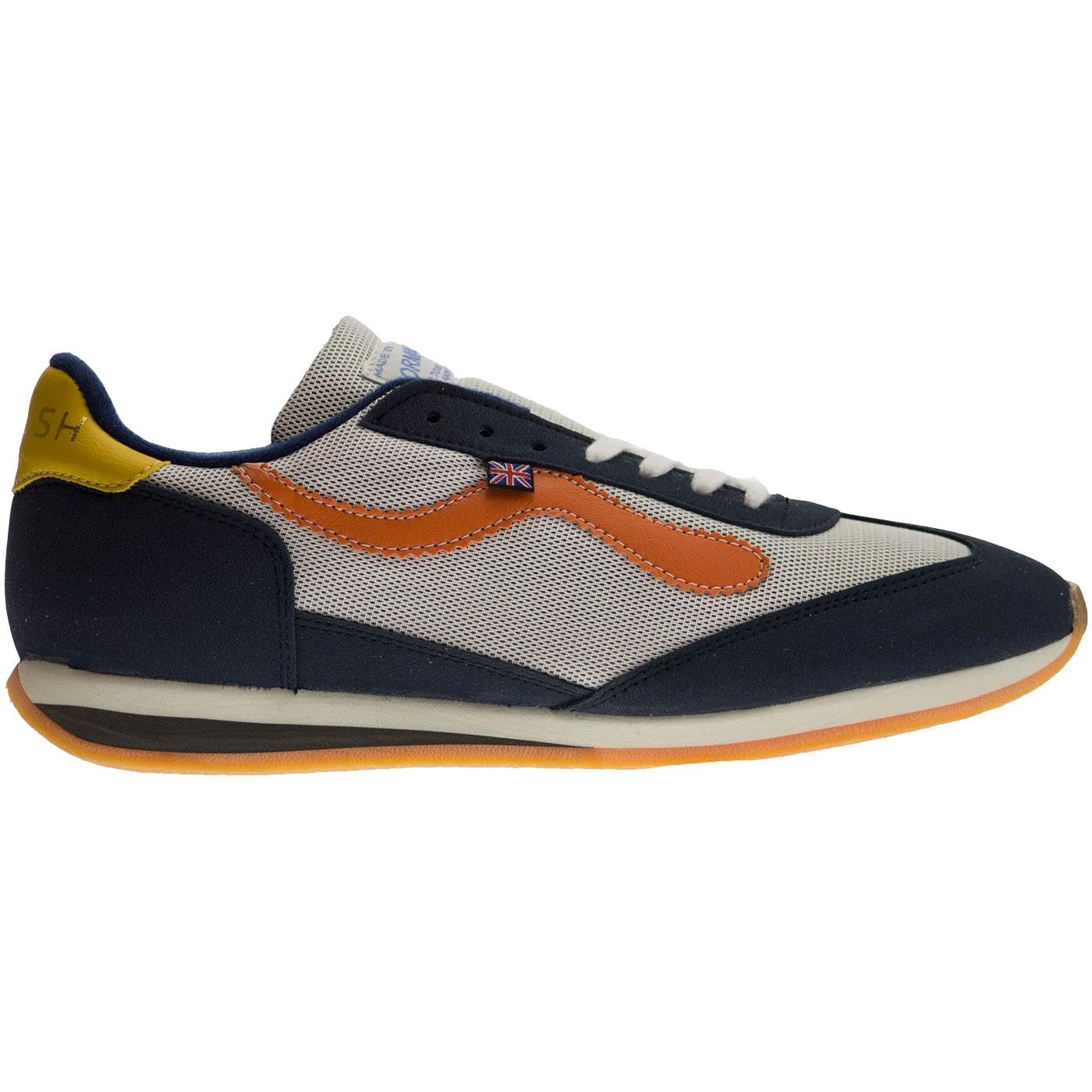 Fiece WALSH Retro Seventies Running Trainers W/N/O
