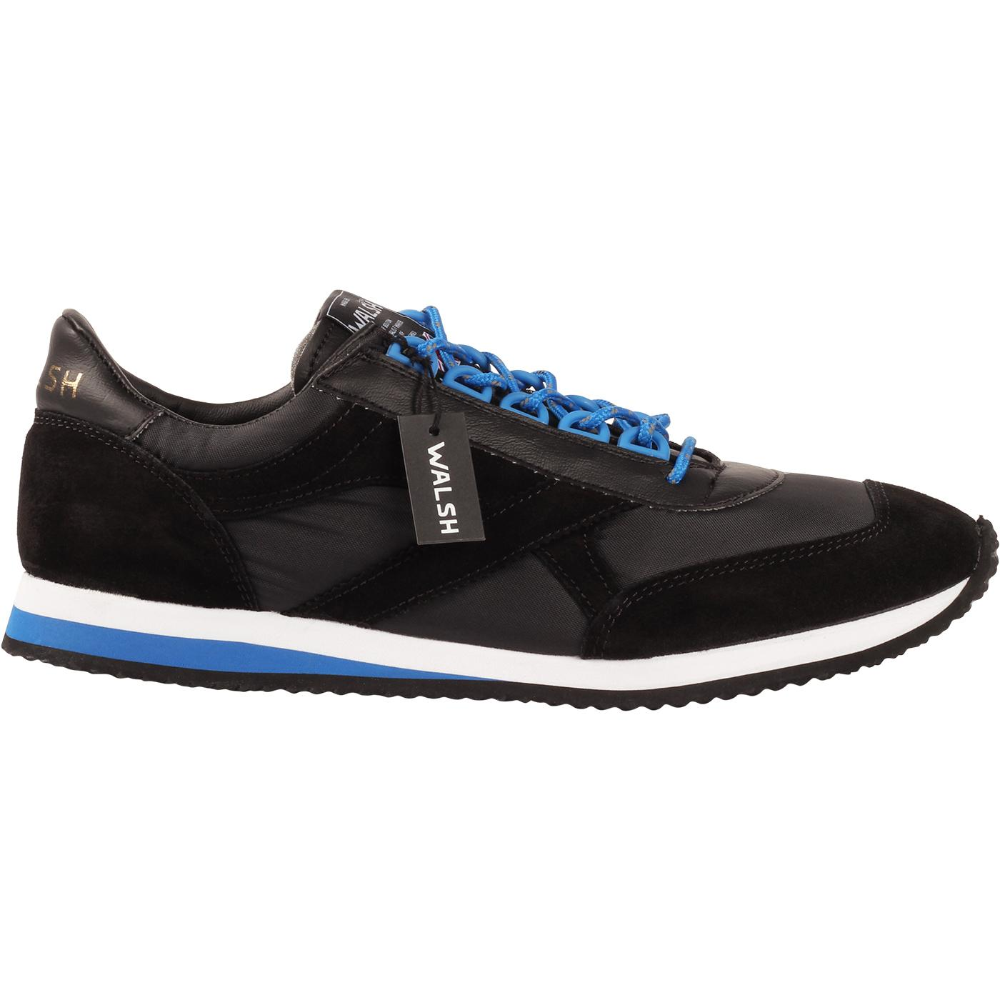 Voyager WALSH Made in England Trainers BLACK/BLUE