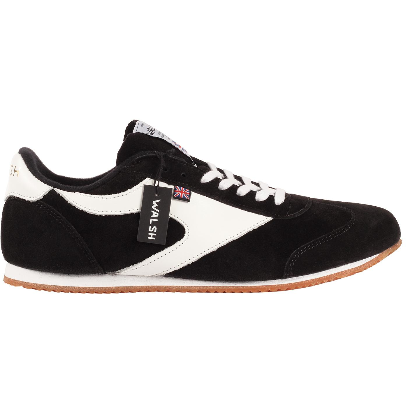Attack WALSH Made in England Retro Trainers BLACK