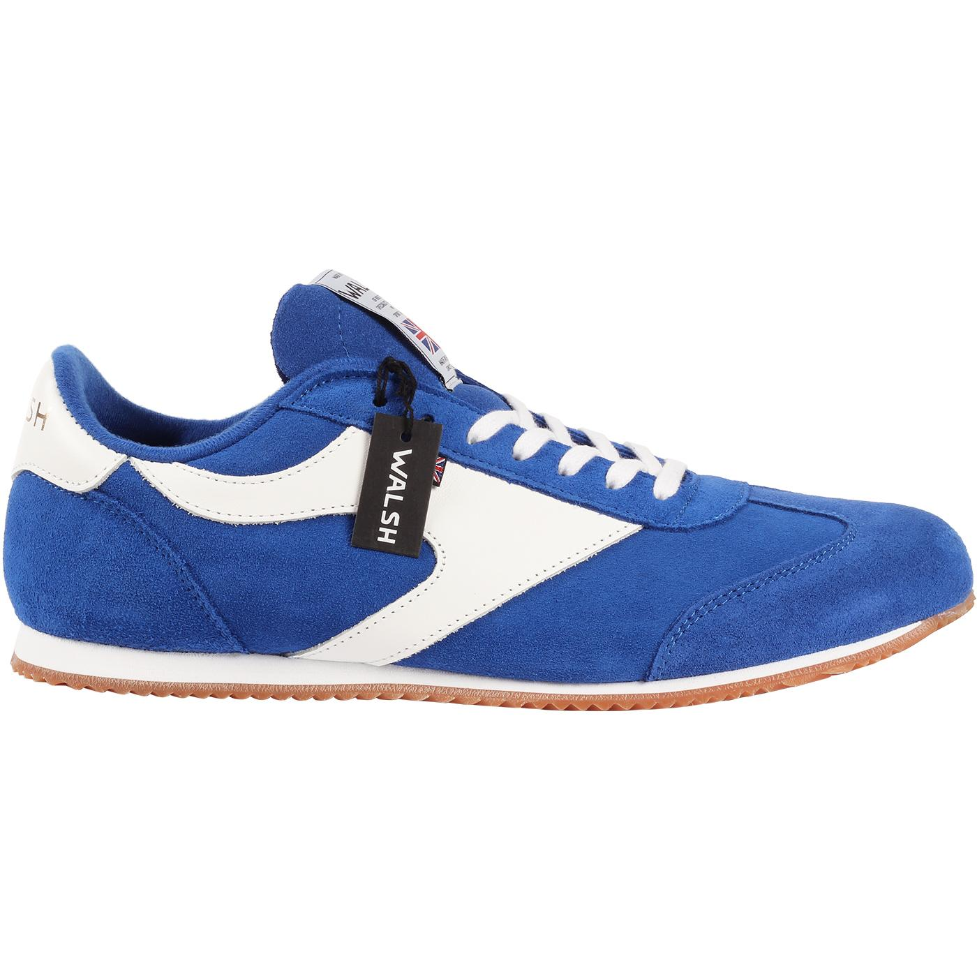 Attack WALSH Made in England Retro Trainers (Blue)