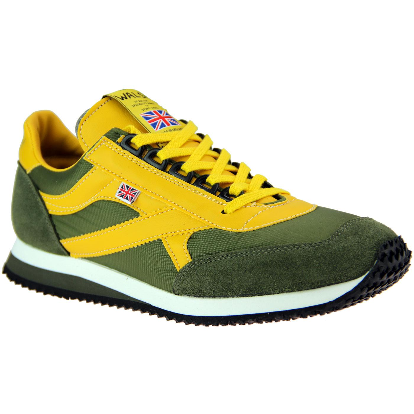 Voyager WALSH Retro Made in England Trainers OLIVE