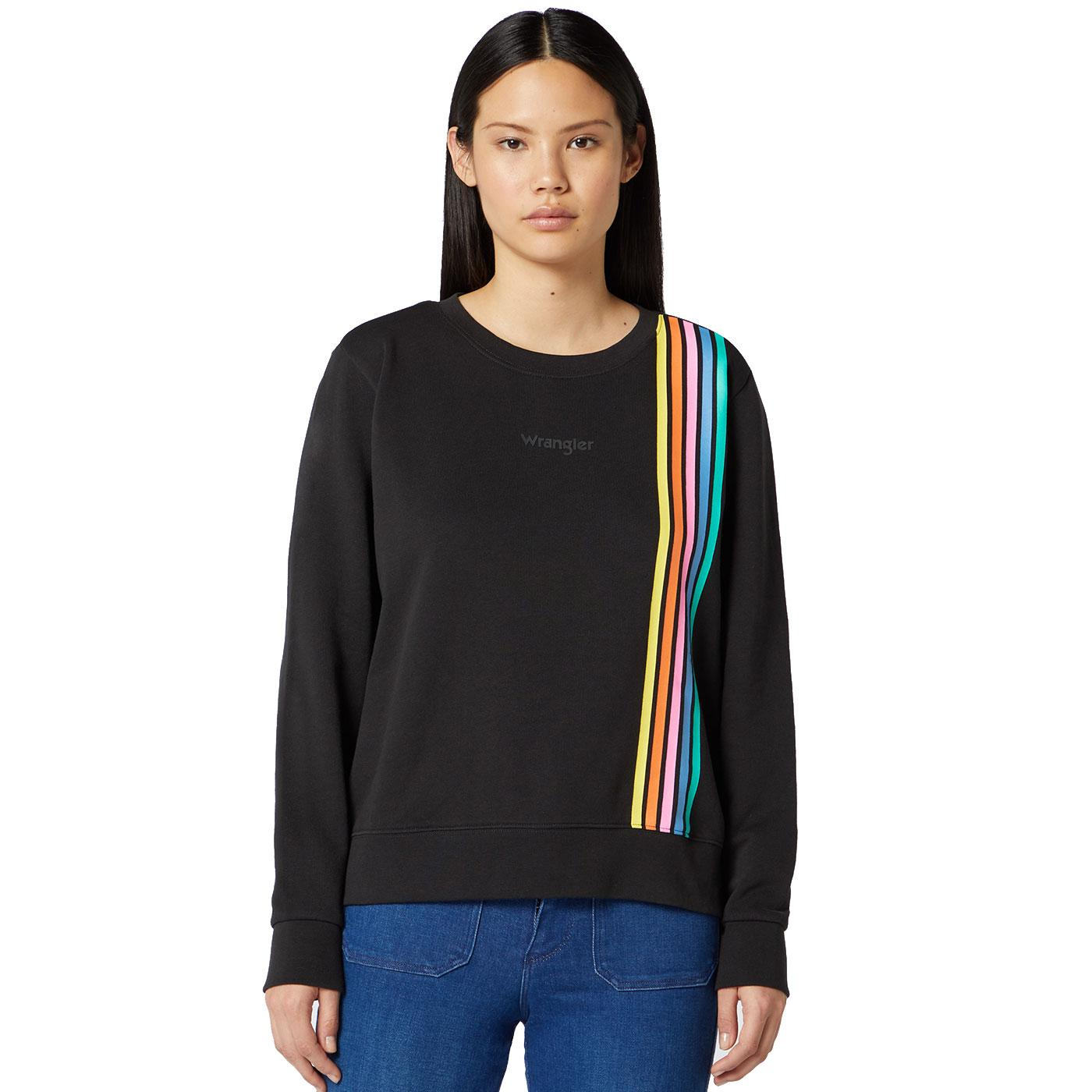 WRANGLER Women's Retro Rainbow Stripe Sweatshirt