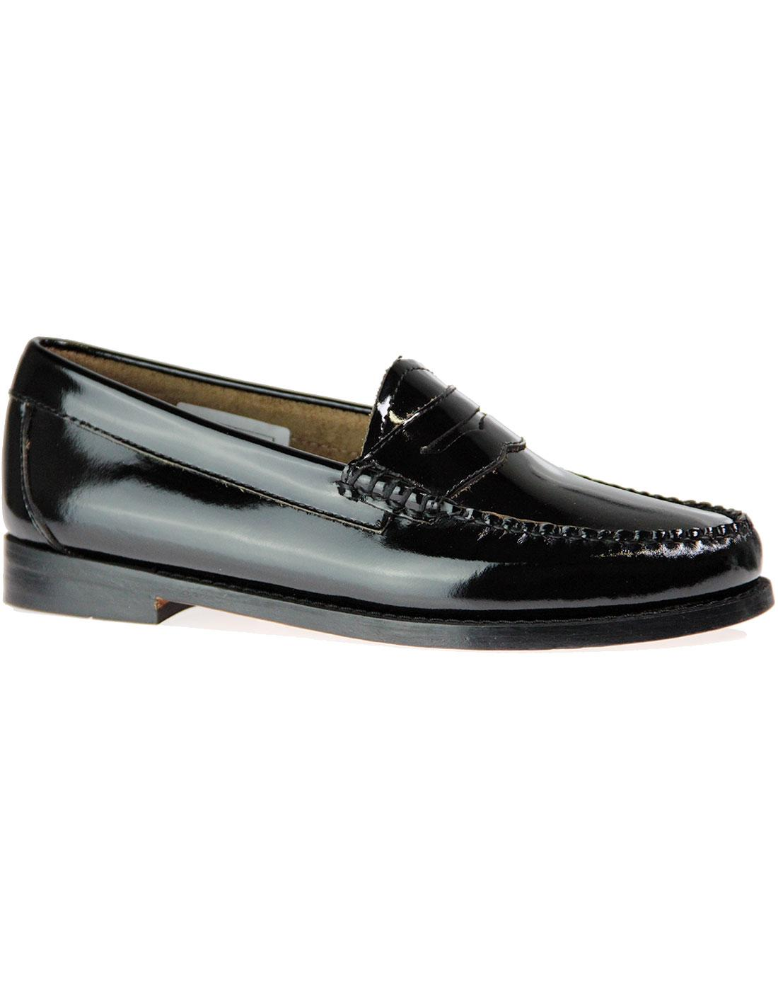 Penny Wheel BASS WEEJUN Retro Patent Loafers B