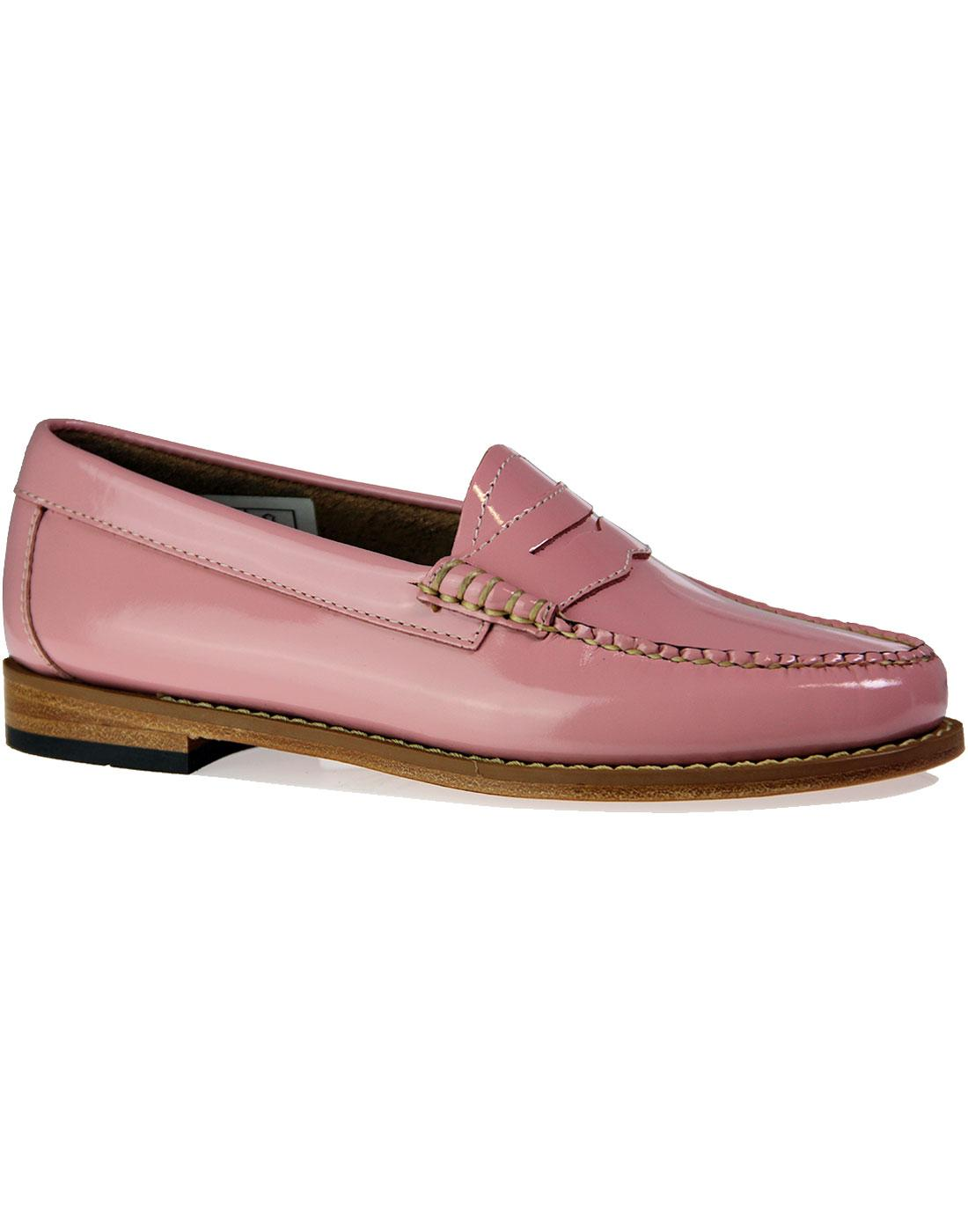 Penny Wheel BASS WEEJUN Retro Patent Loafers ROSE