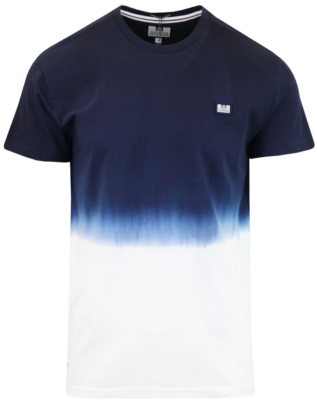 Ellis WEEKEND OFFENDER Retro Dip Dye Block T-shirt