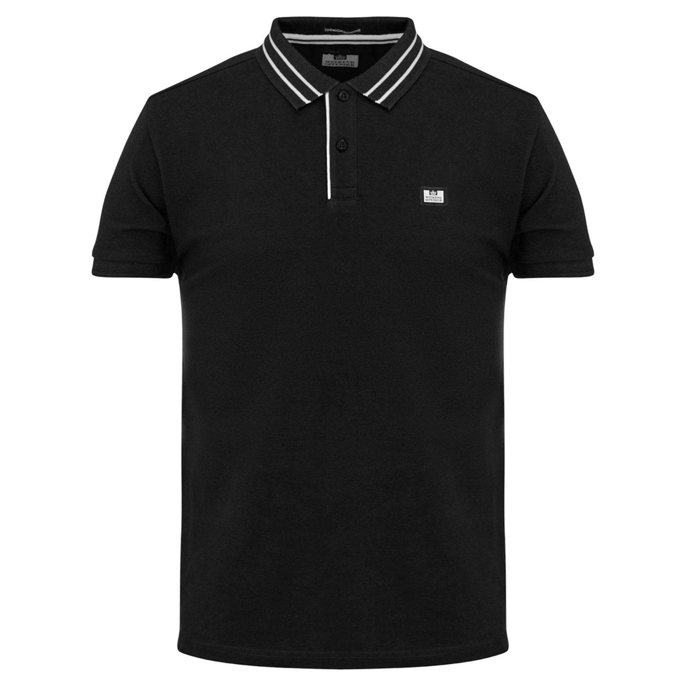 Frankie WEEKEND OFFENDER Mod Tipped Pique Polo