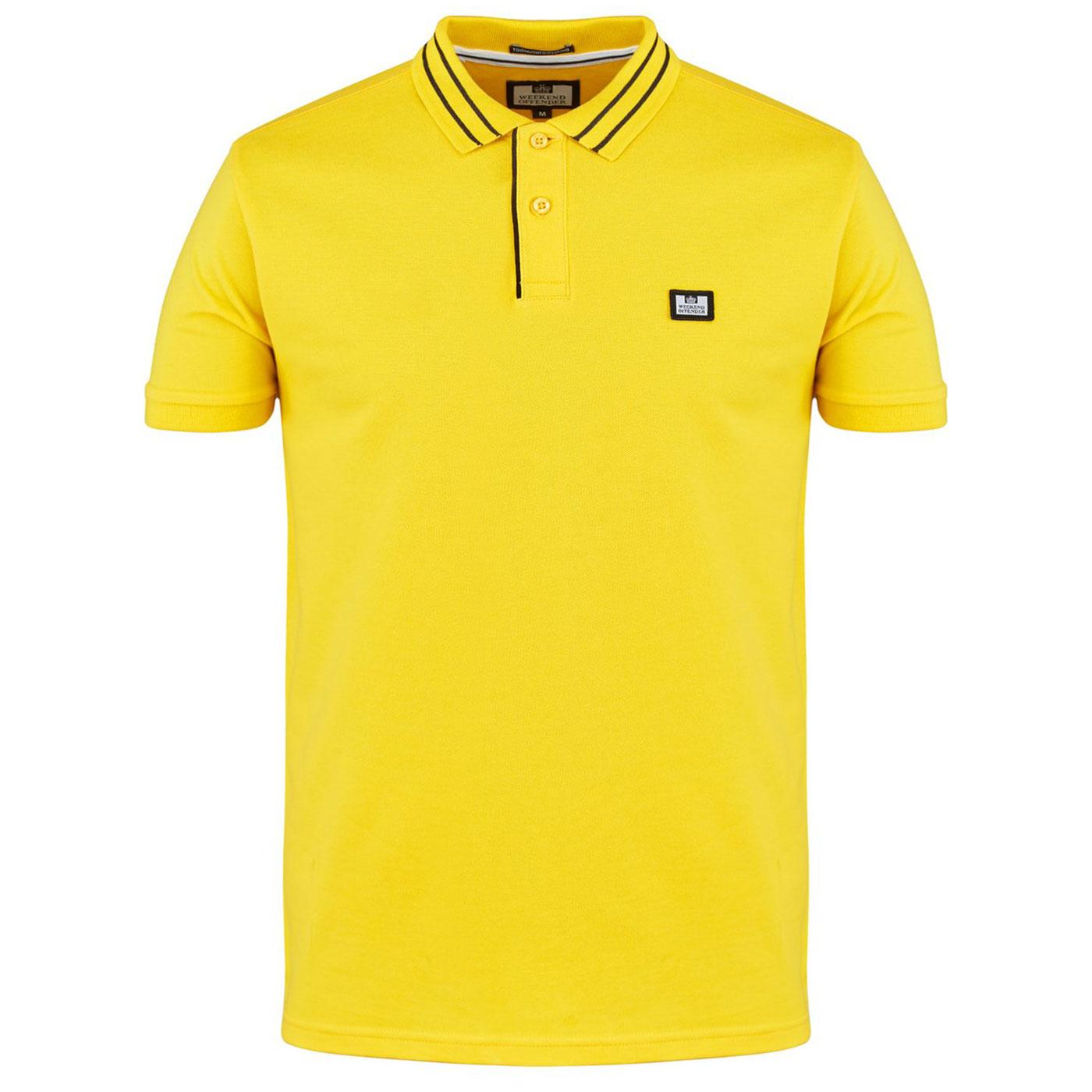 Frankie WEEKEND OFFENDER Mod Tipped Pique Polo S