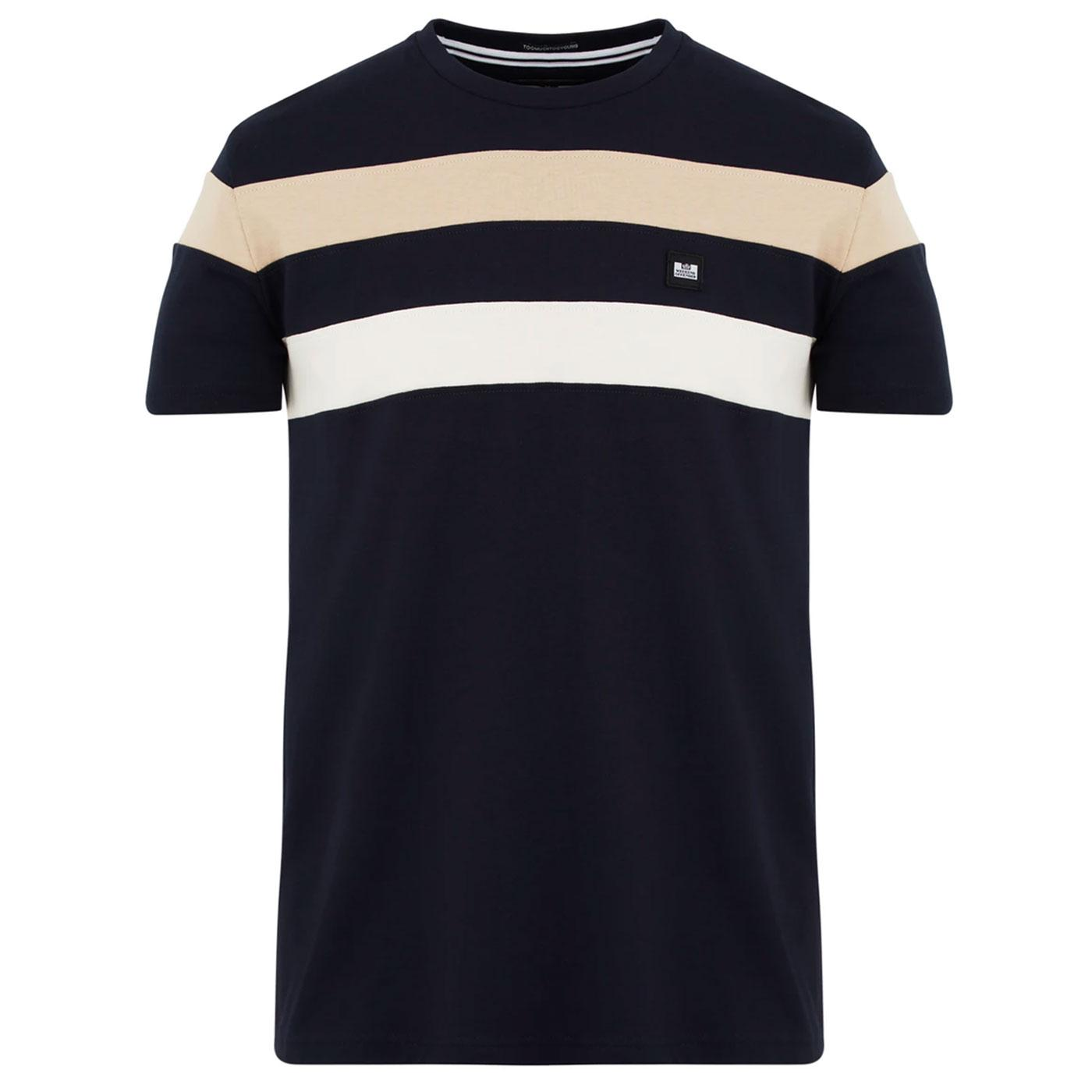 Honopu WEEKEND OFFENDER Retro Chest Stripe Tee (N)