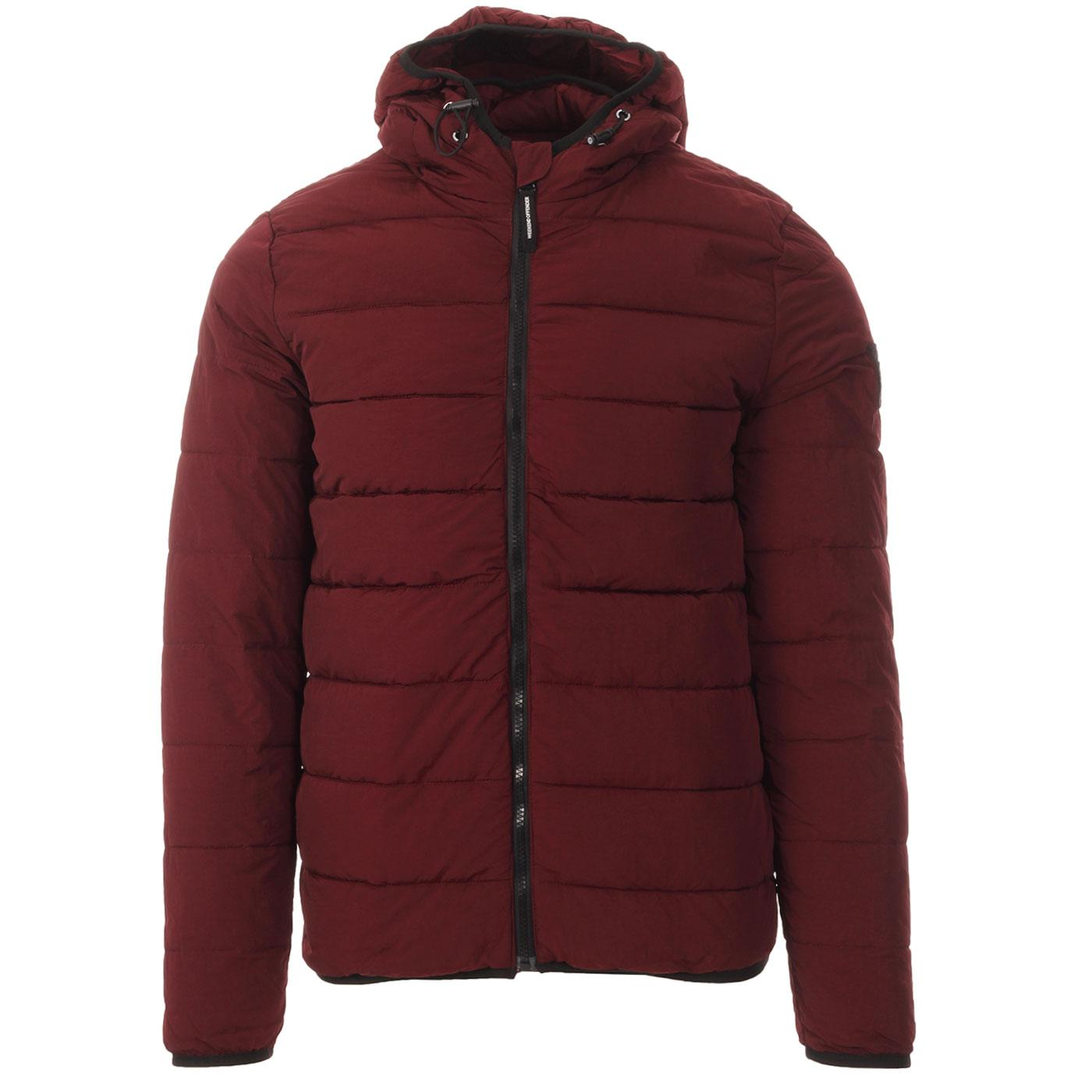 La Guardai WEEKEND OFFENDER Padded Jacket BURGUNDY