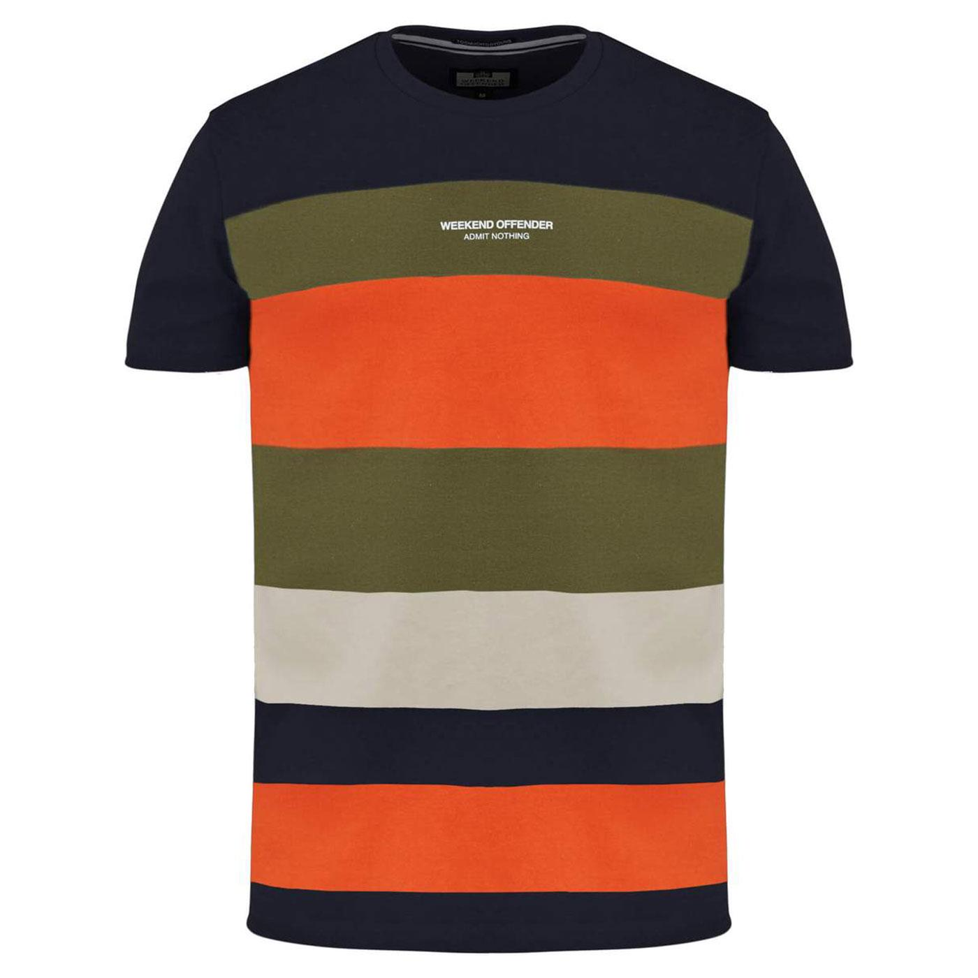 Little Italy WEEKEND OFFENDER Bold Stripe Tee NAVY