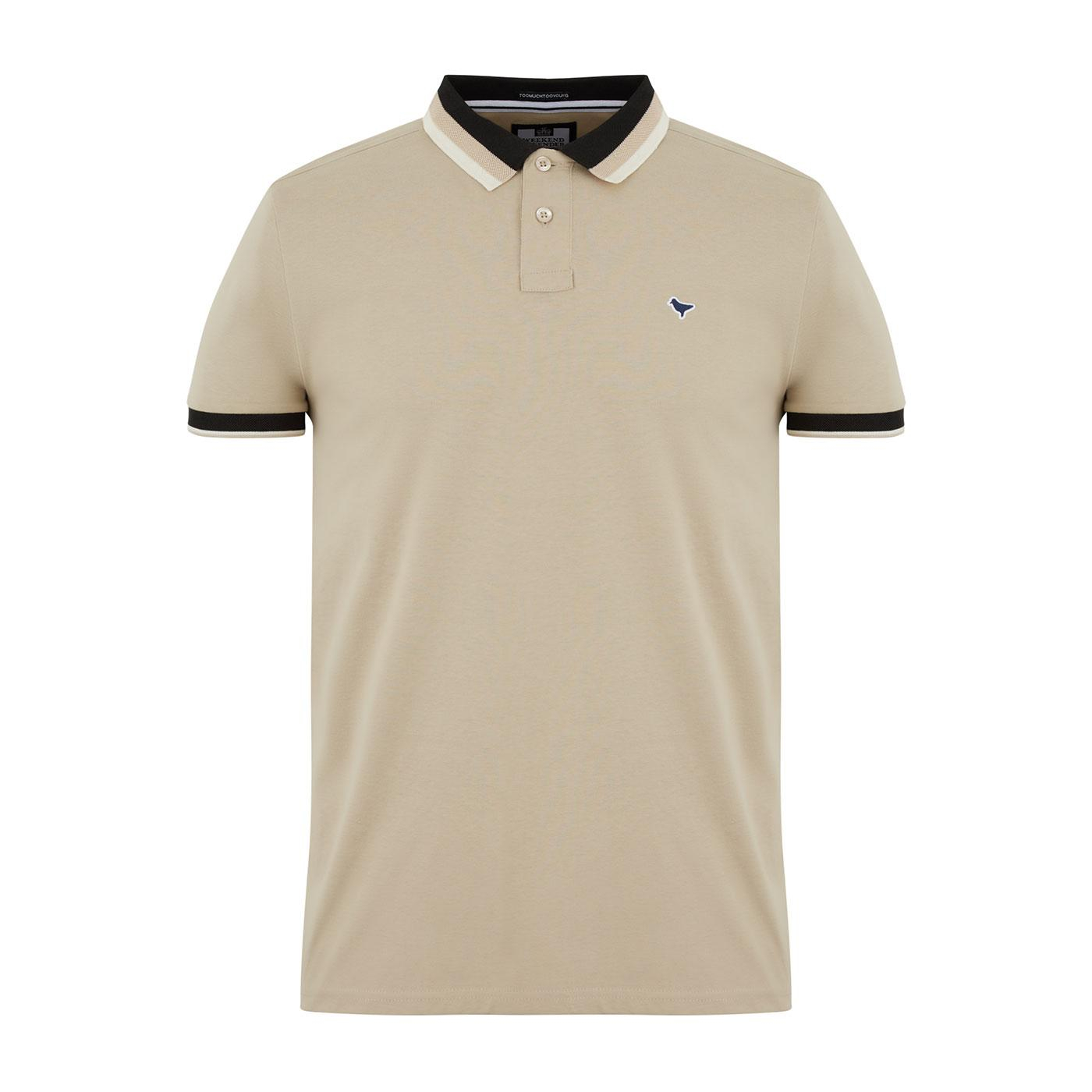 Moon Cay WEEKEND OFFENDER Mod Stripe Collar Polo S