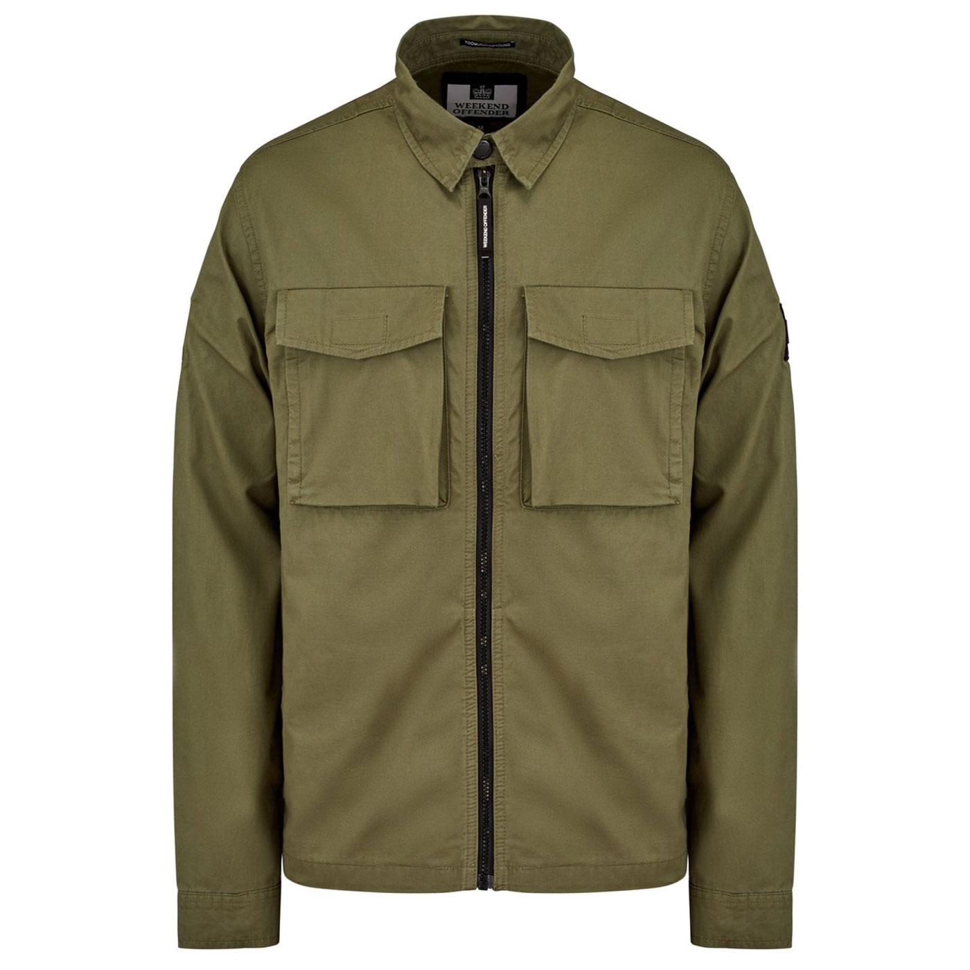 Pileggi WEEKEND OFFENDER Military Overshirt KHAKI