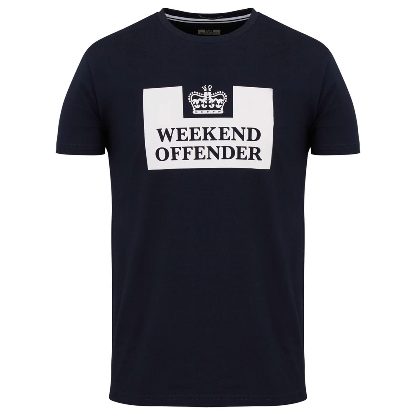 WEEKEND OFFENDER Retro Prison Classics Tee (Navy)