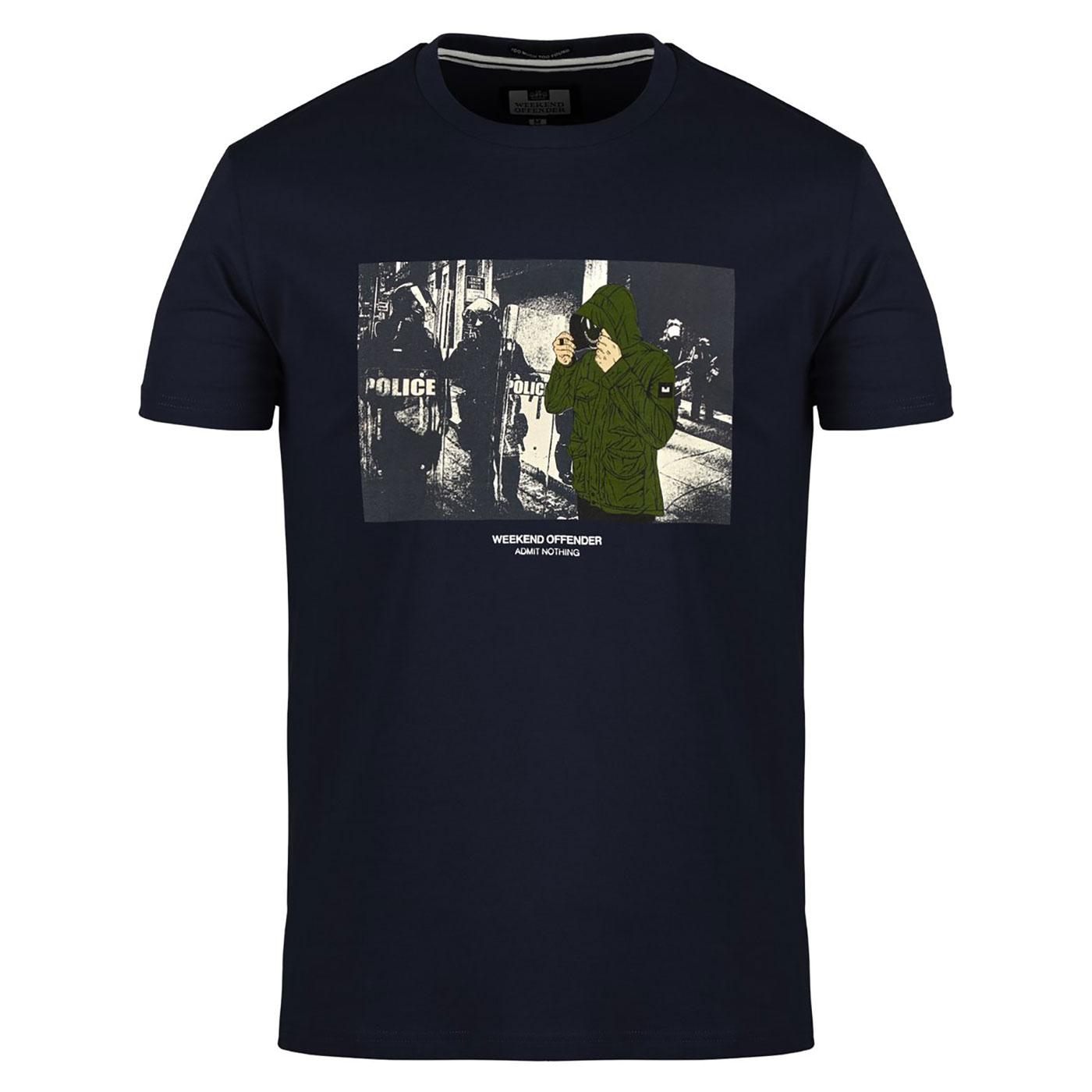Smiley WEEKEND OFFENDER Casuals Mask Print T-Shirt