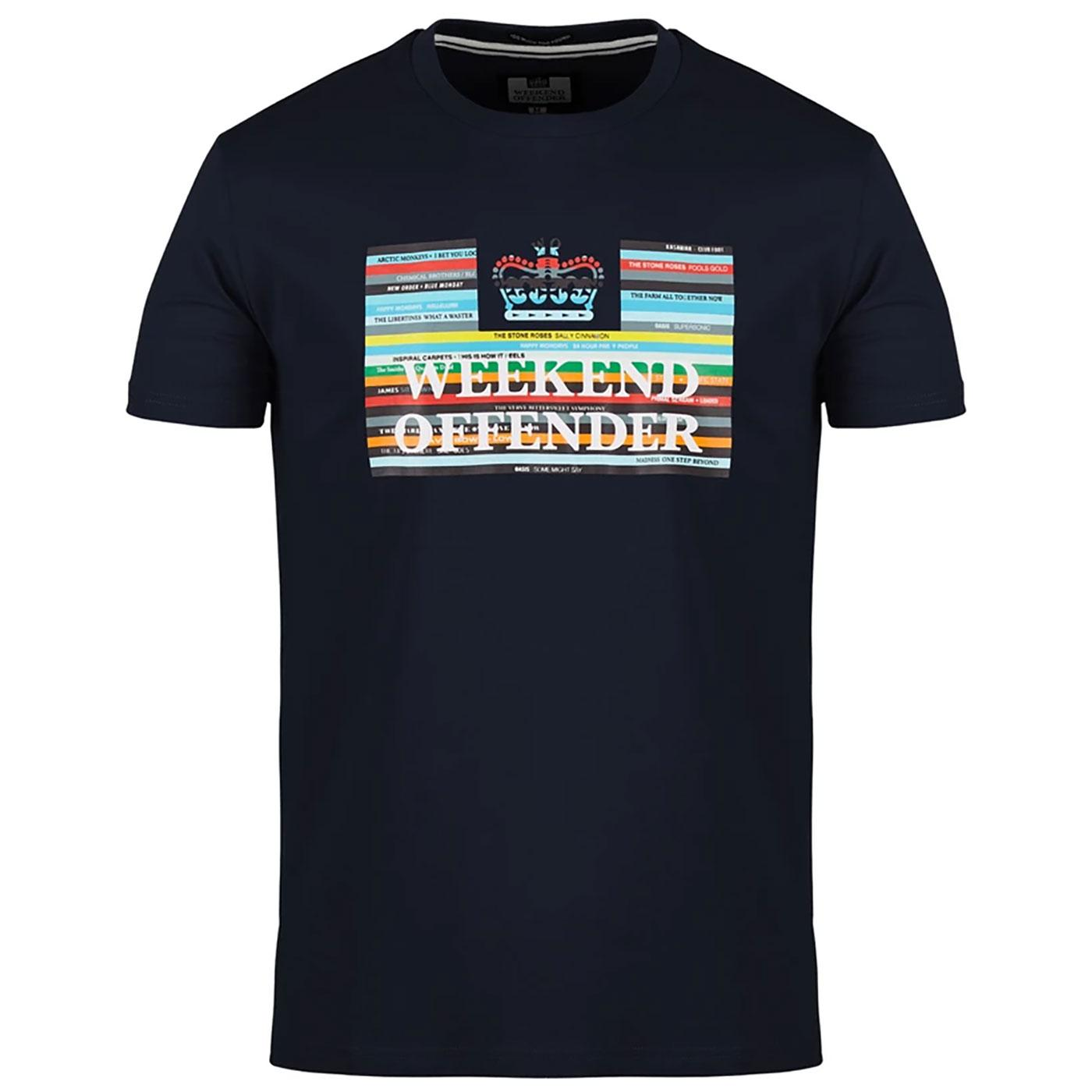 Spines WEEKEND OFFENDER 90's Record Collection Tee