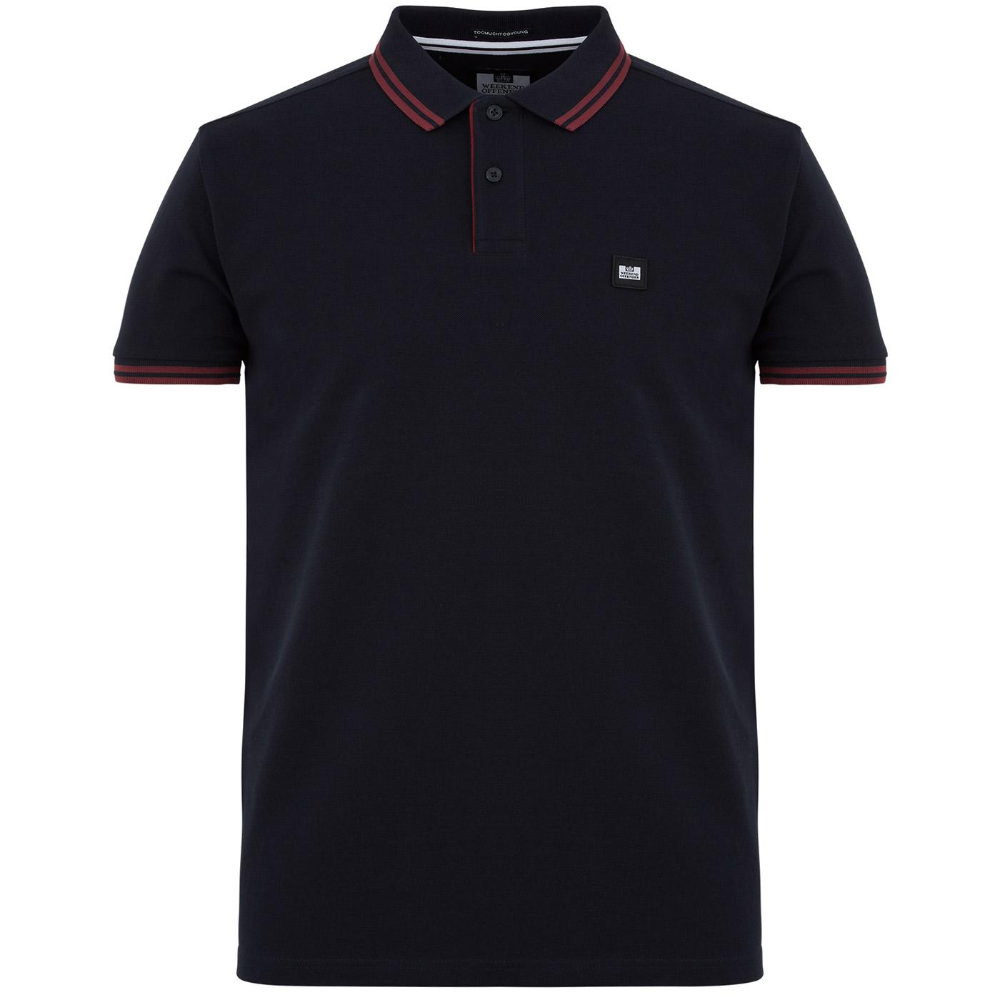 Viverno WEEKEND OFFENDER Mod Stripe Tipped Polo N