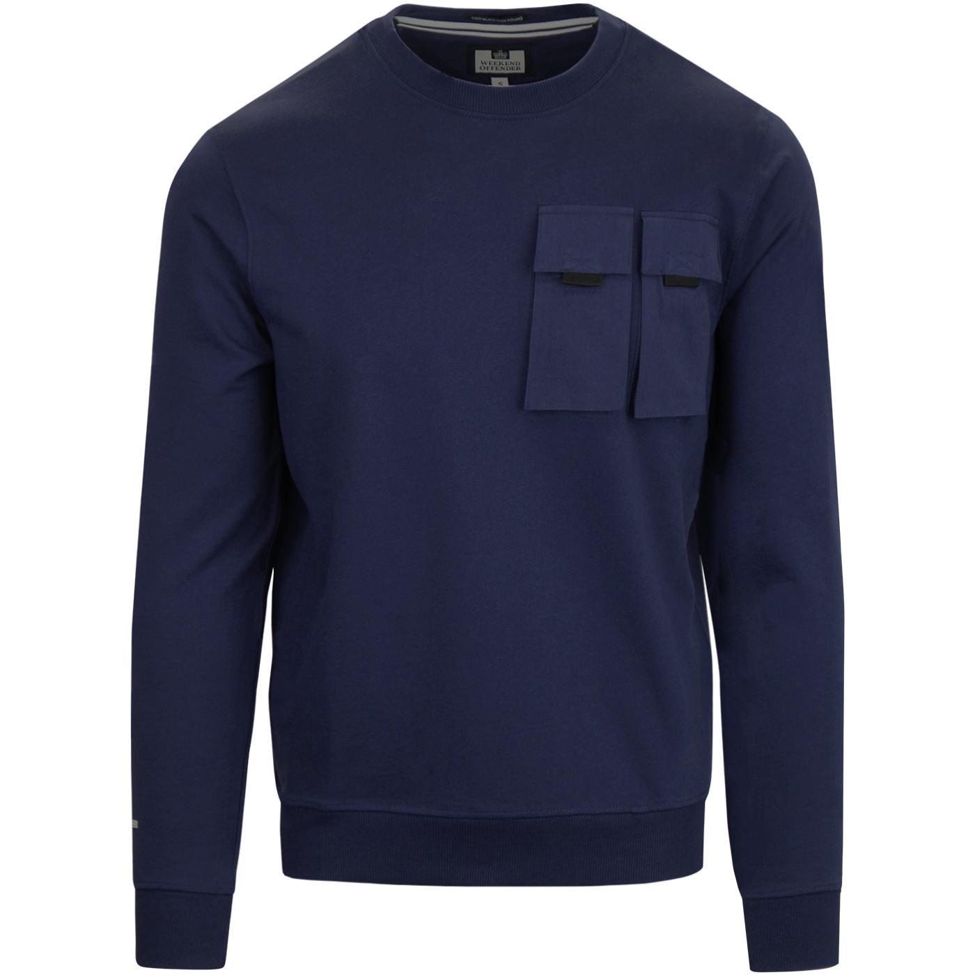 Alfonso WEEKEND OFFENDER Retro Pocket Sweatshirt
