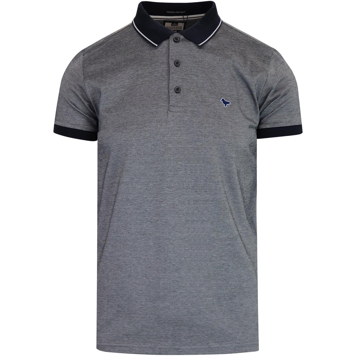Dell Anna WEEKEND OFFENDER Mod Polo Shirt (Navy)