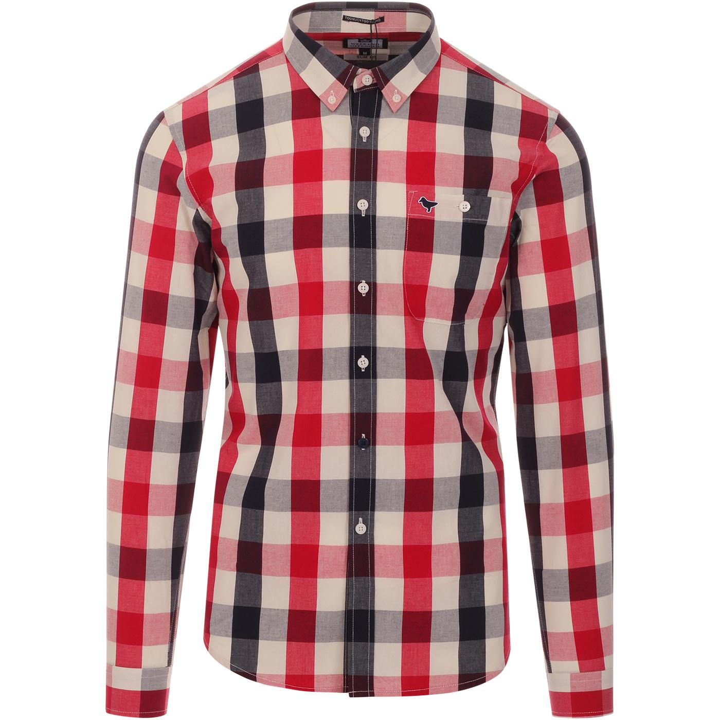 Geveria WEEKEND OFFENDER Retro Mod Check Shirt R