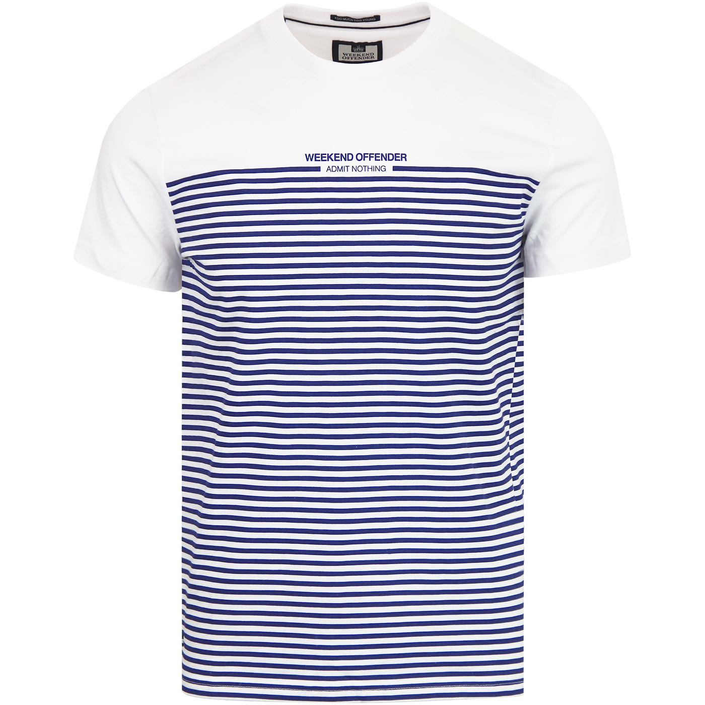 Half Stripes WEEKEND OFFENDER Retro Mod Stripe Tee