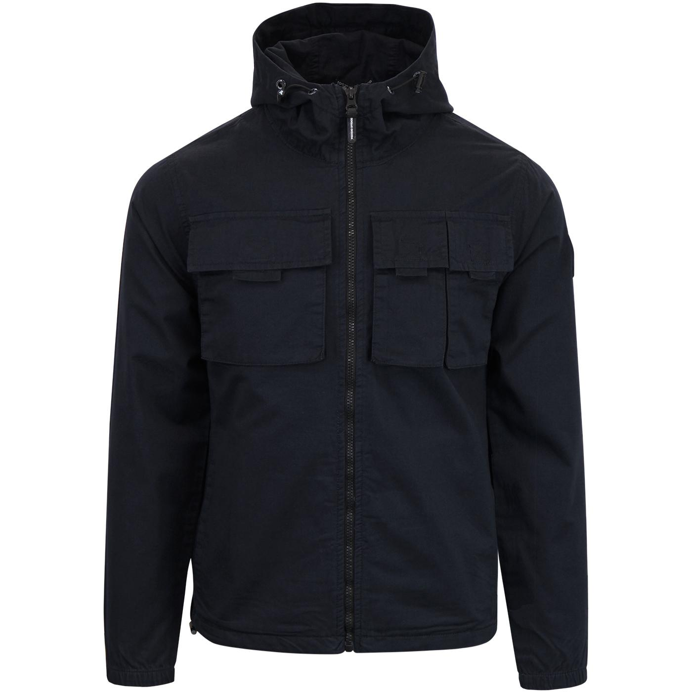 Cardillo WEEKEND OFFENDER Retro Hooded Jacket NAVY