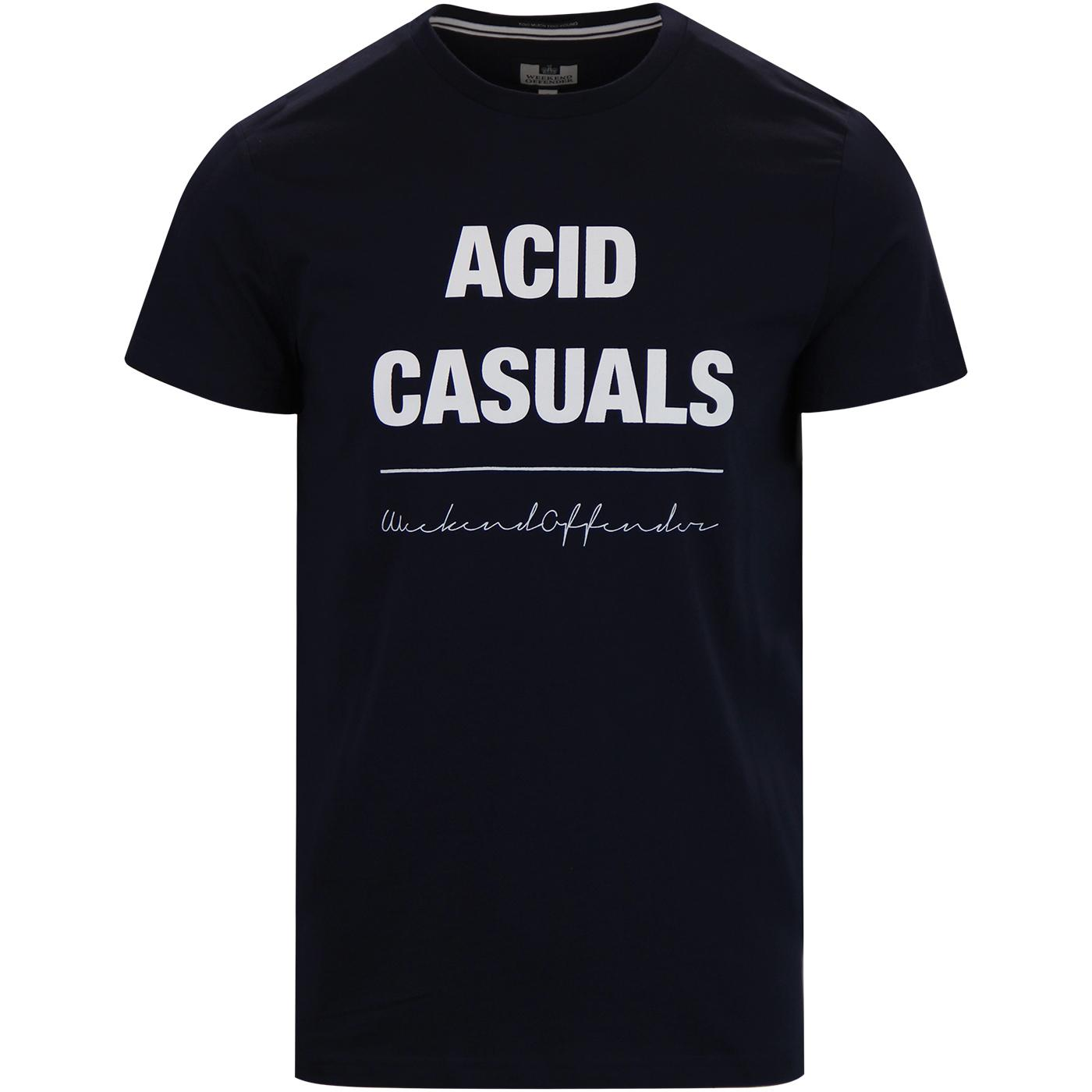 Acid Casual WEEKEND OFFENDER Retro Print T-shirt