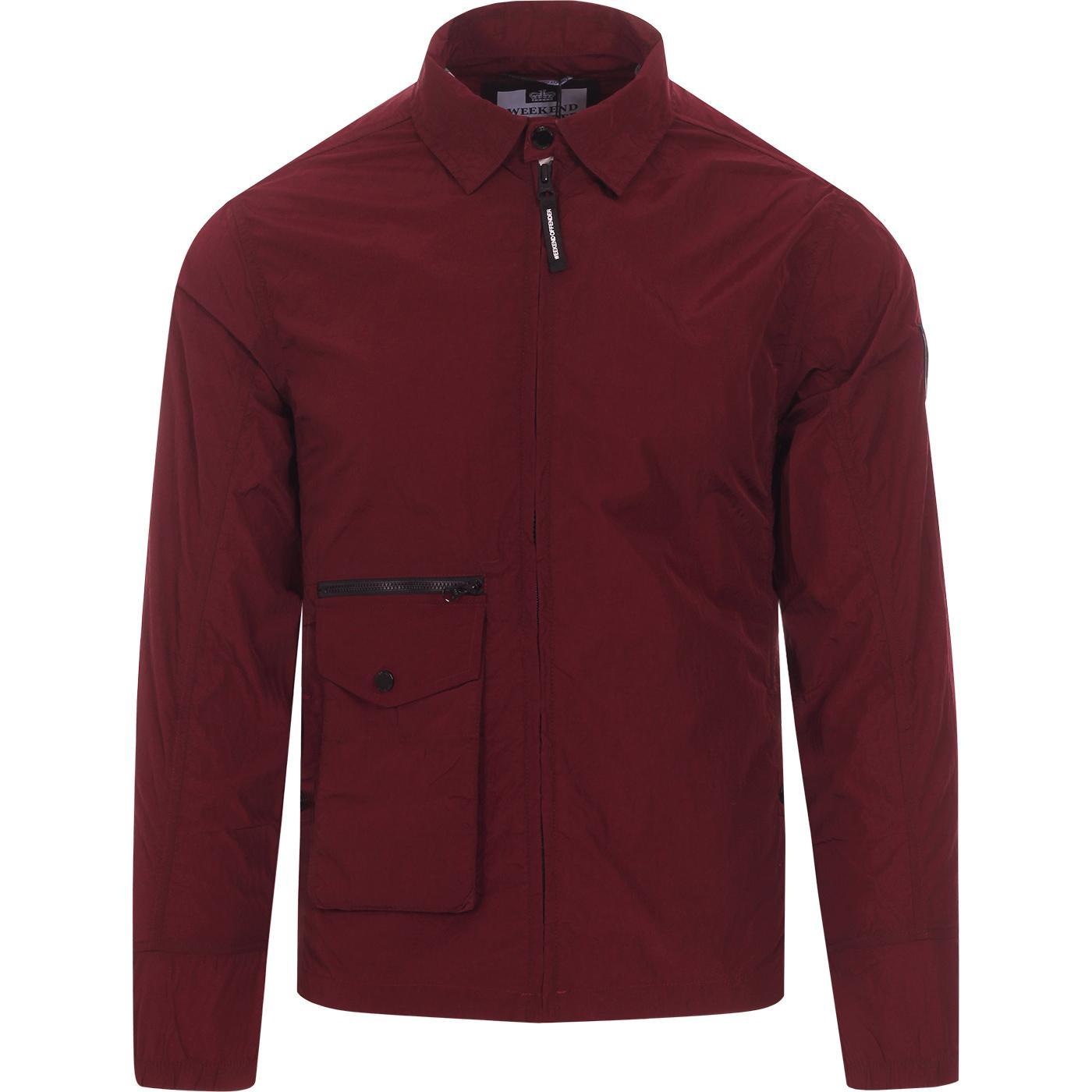 Vinnie WEEKEND OFFENDER Retro Shirt Jacket (Bu)