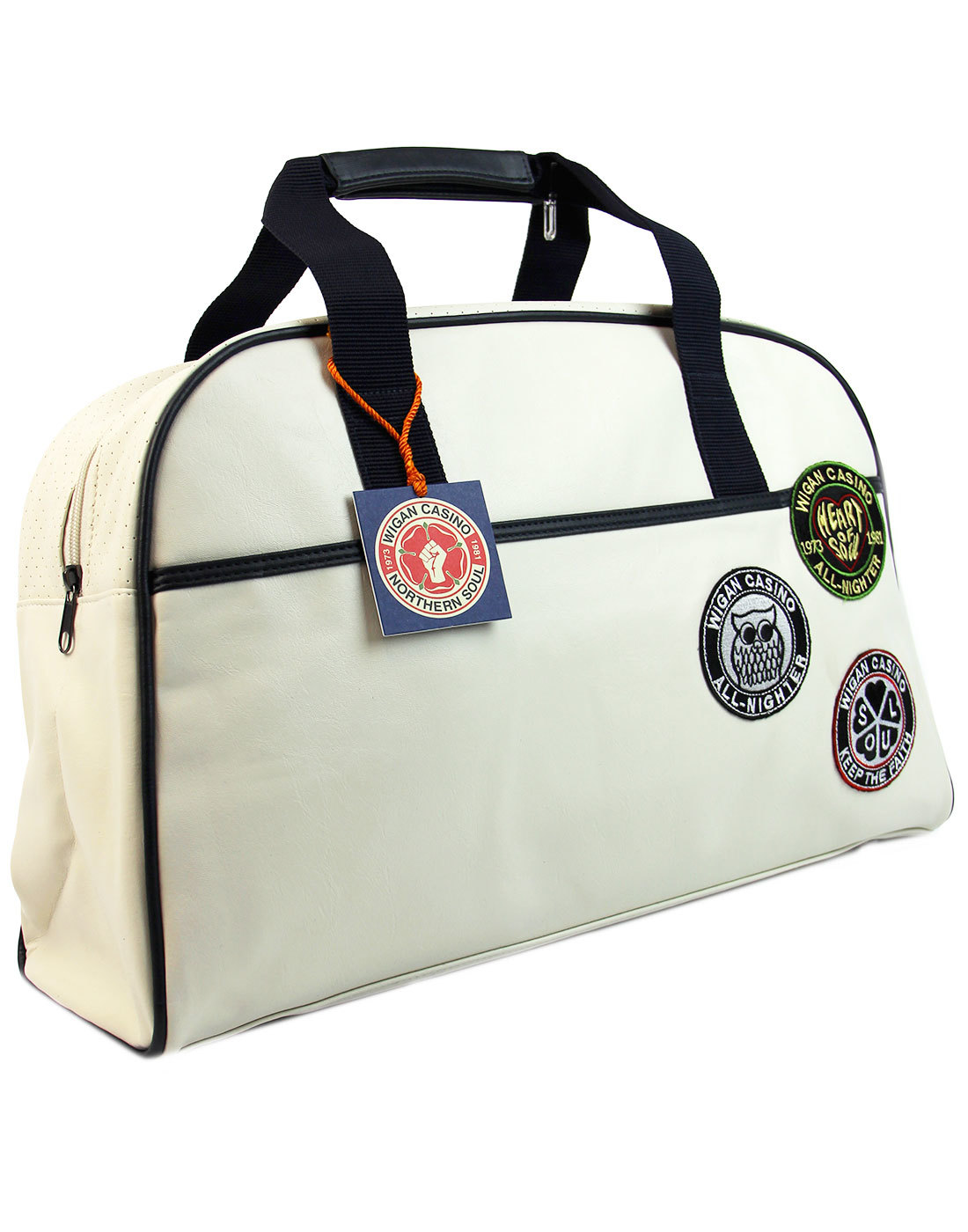 Ska Mod Retro. Northern Soul Retro Bowling Bag With Embroidered Fist Logo